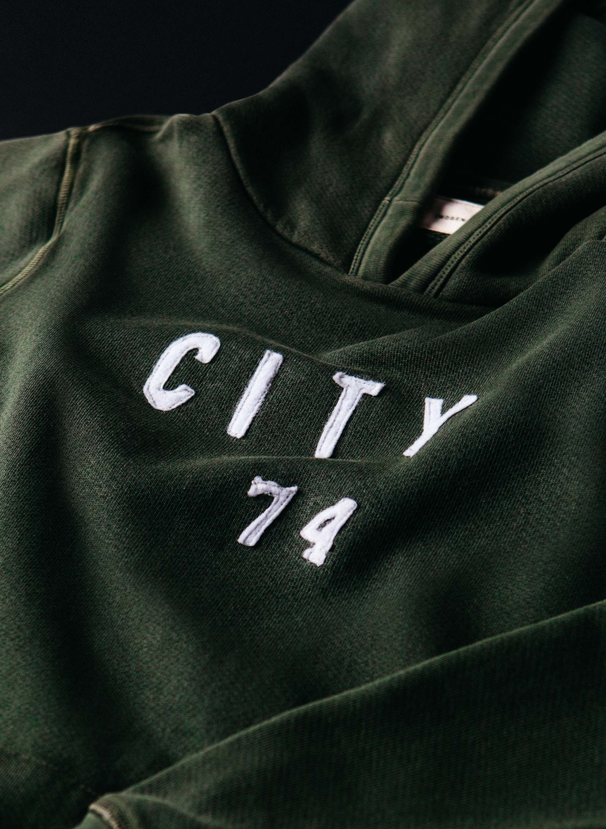 "imogene + willie - stitched ""city '74"" hoodie"