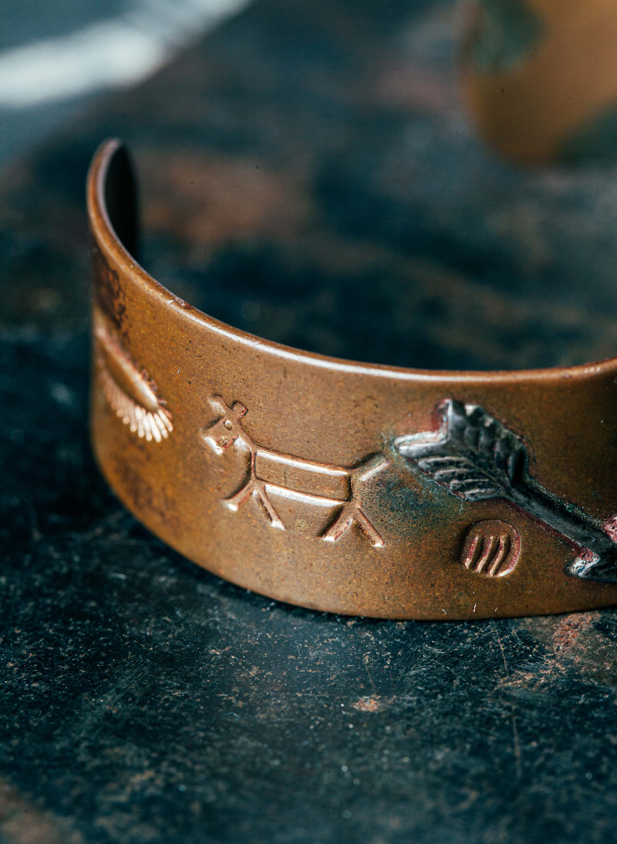 "imogene + willie - vintage ""tsetyat"" copper cuff"