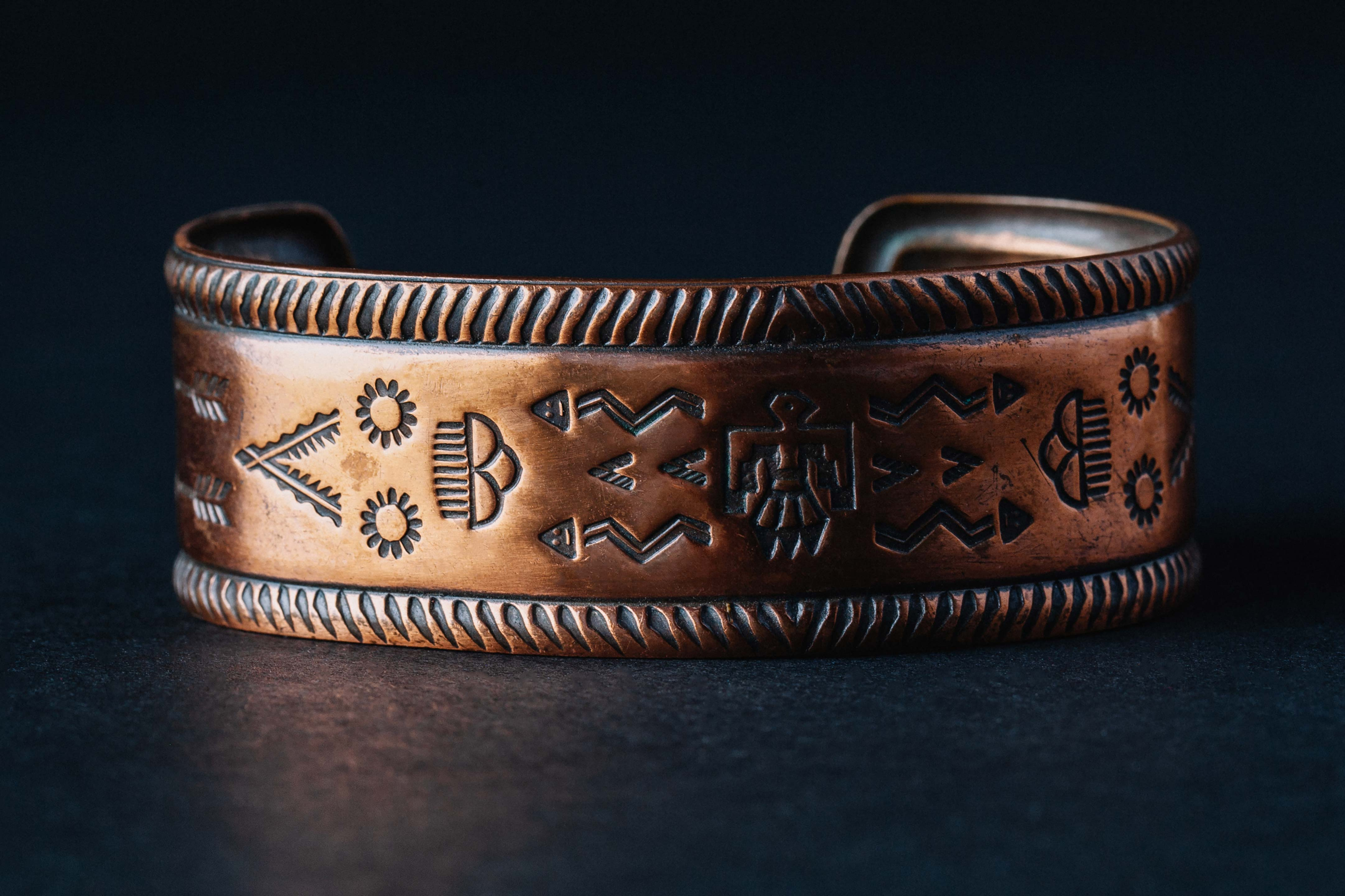 "imogene + willie - vintage ""oeškeso"" copper cuff"