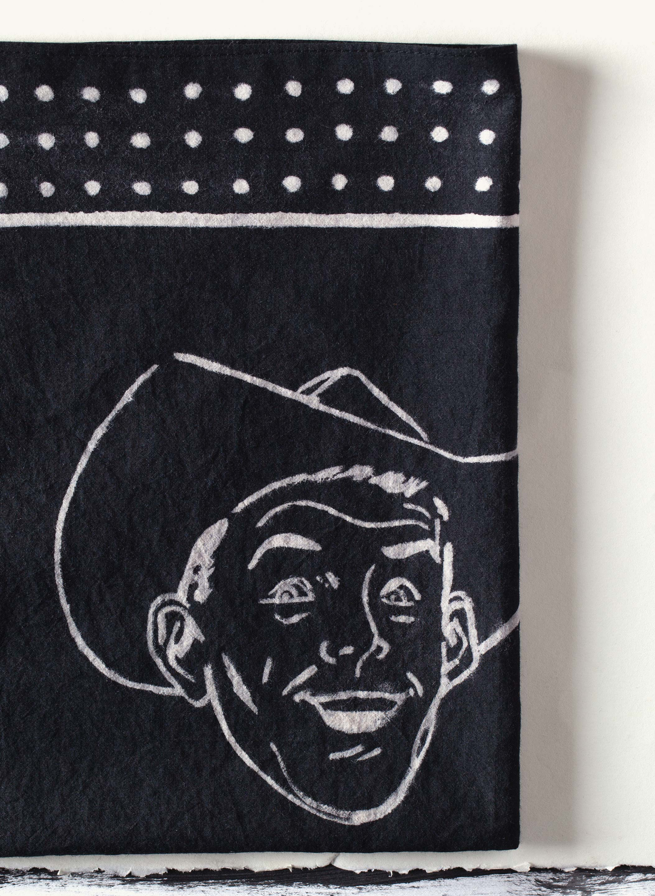 "imogene + willie - handpainted ""long time gone"" bandana"