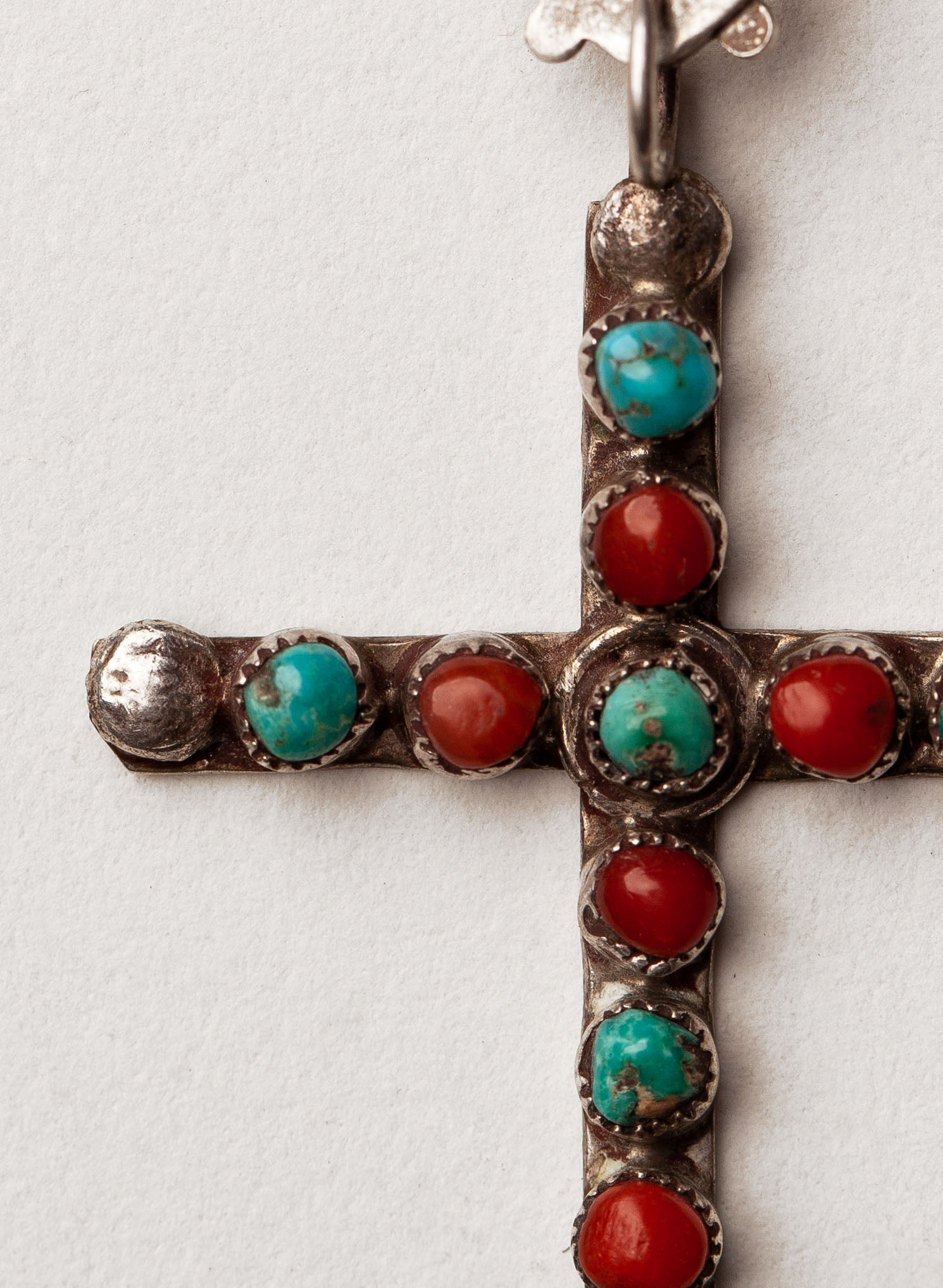 "imogene + willie - vintage ""aynshe"" cross pendant"