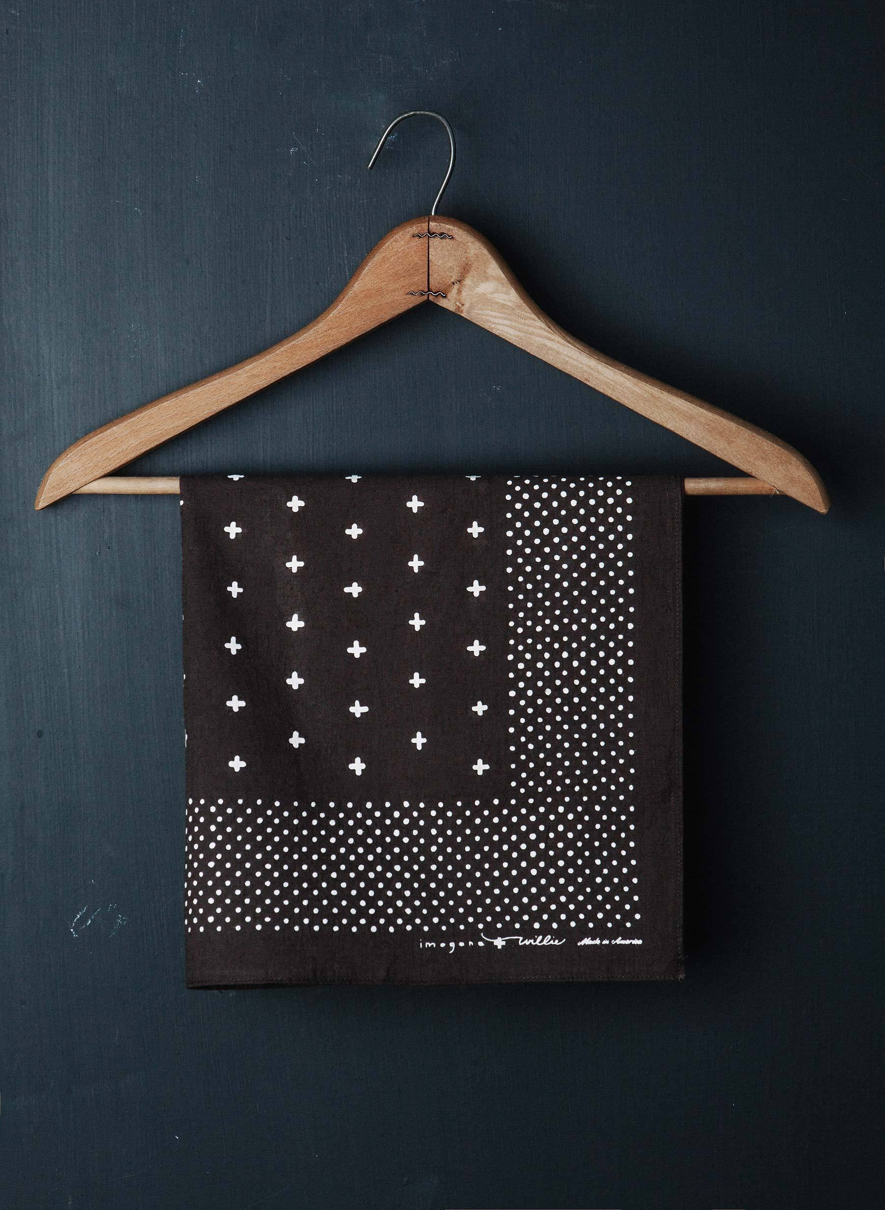 imogene + willie - i+w vintage brown bandana