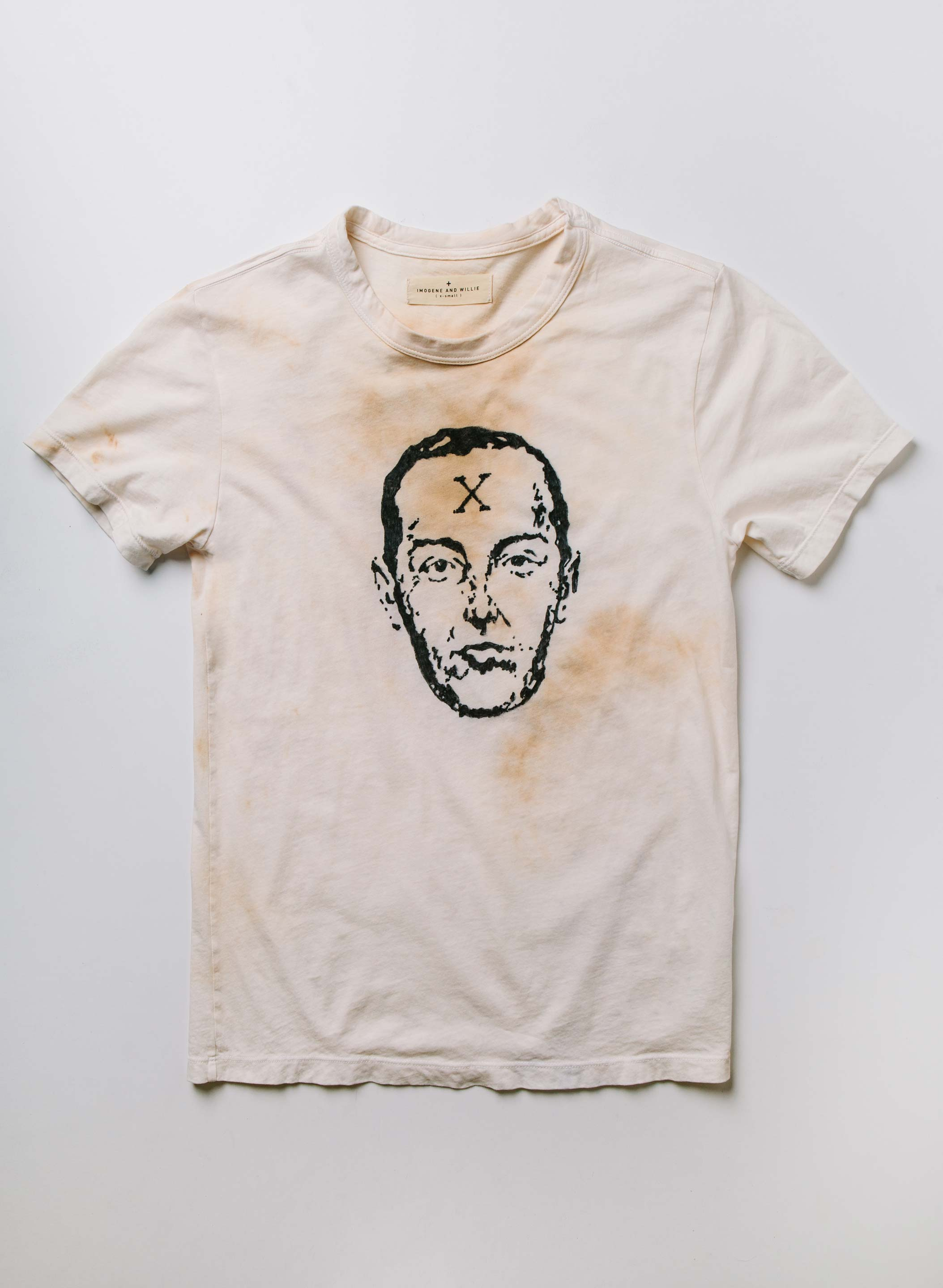 "imogene + willie - hand drawn ""escape artist"" tee"