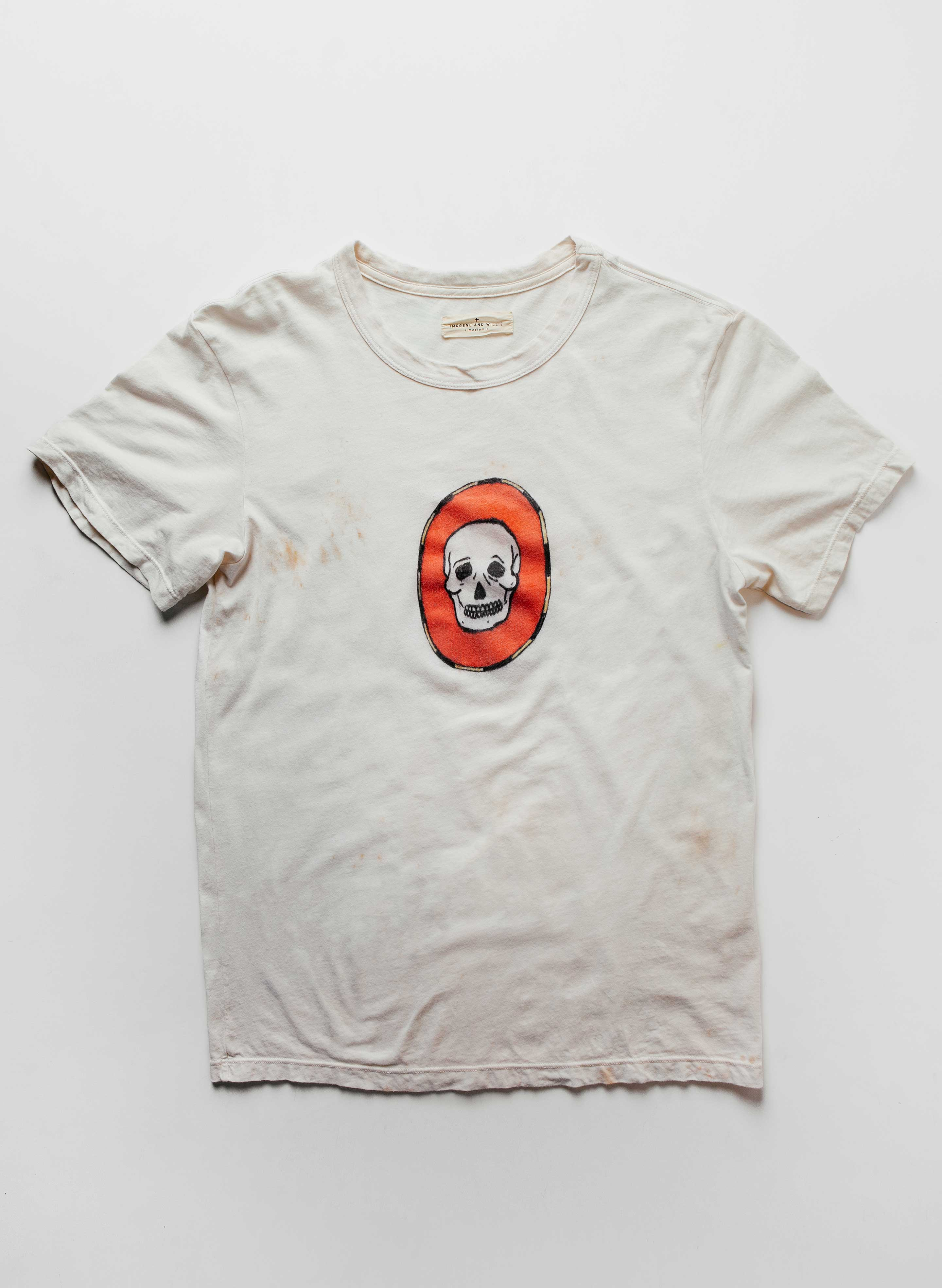 "imogene + willie - hand-drawn ""dead end"" tee"