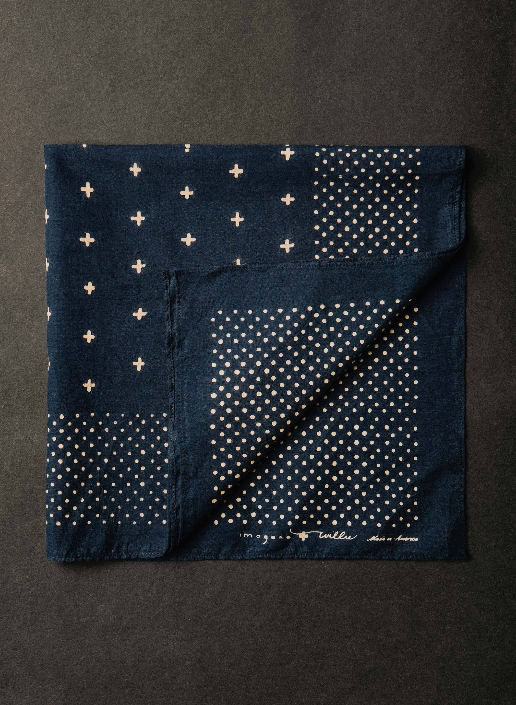 imogene + willie - i+w vintage midnight blue bandana