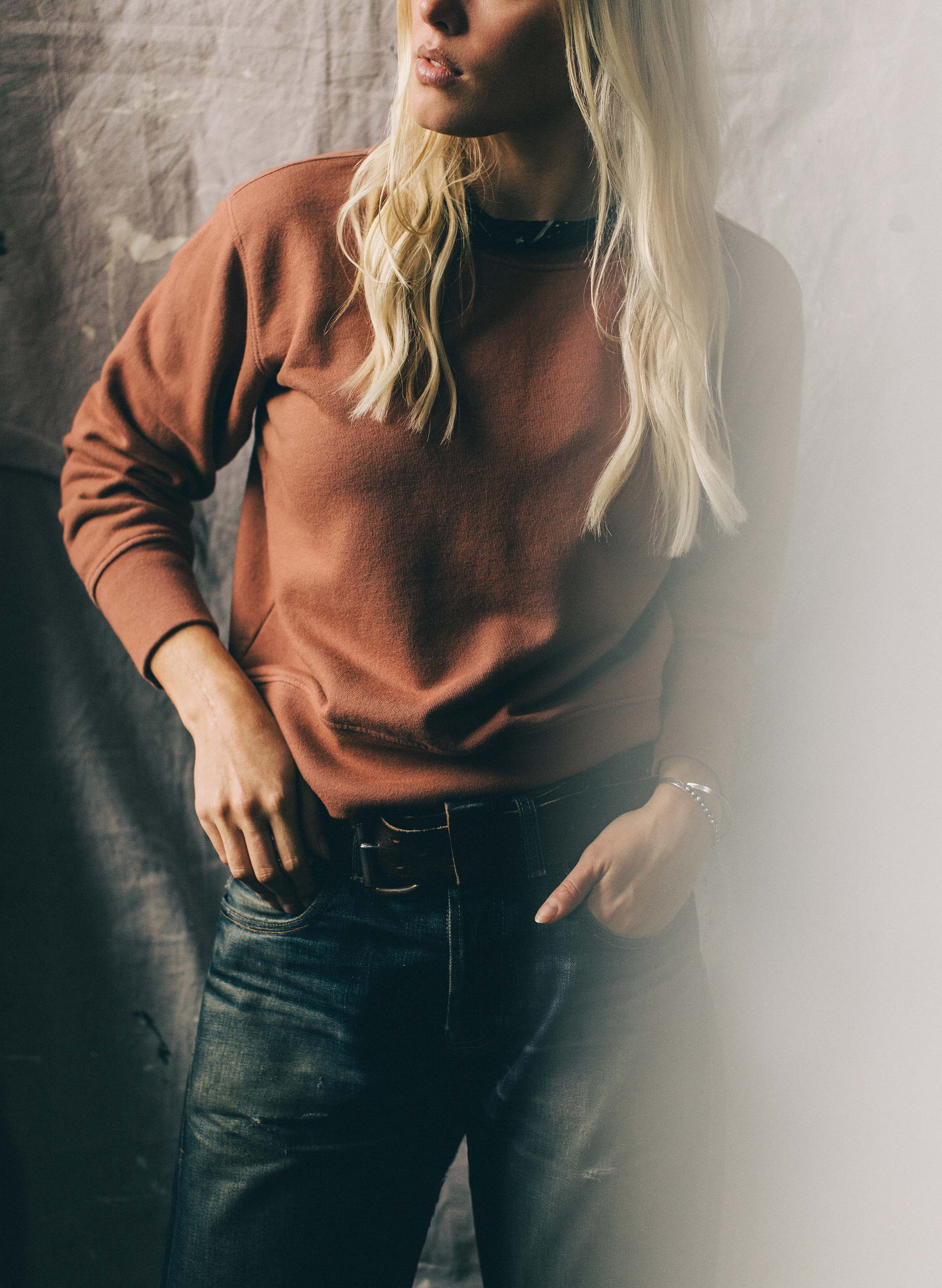 imogene + willie - lina sweatshirt in desert rose