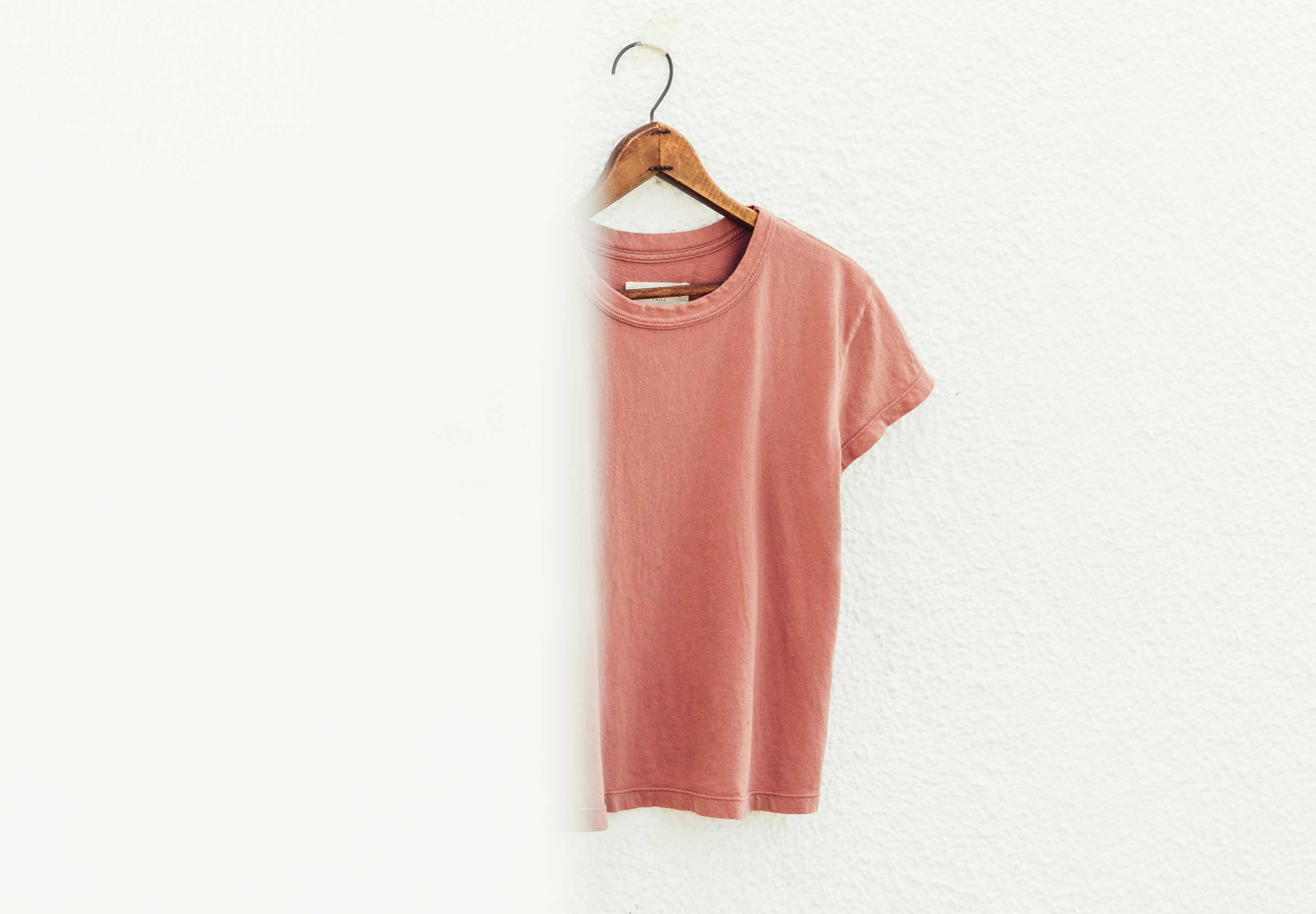 imogene + willie - the drop tee in desert rose