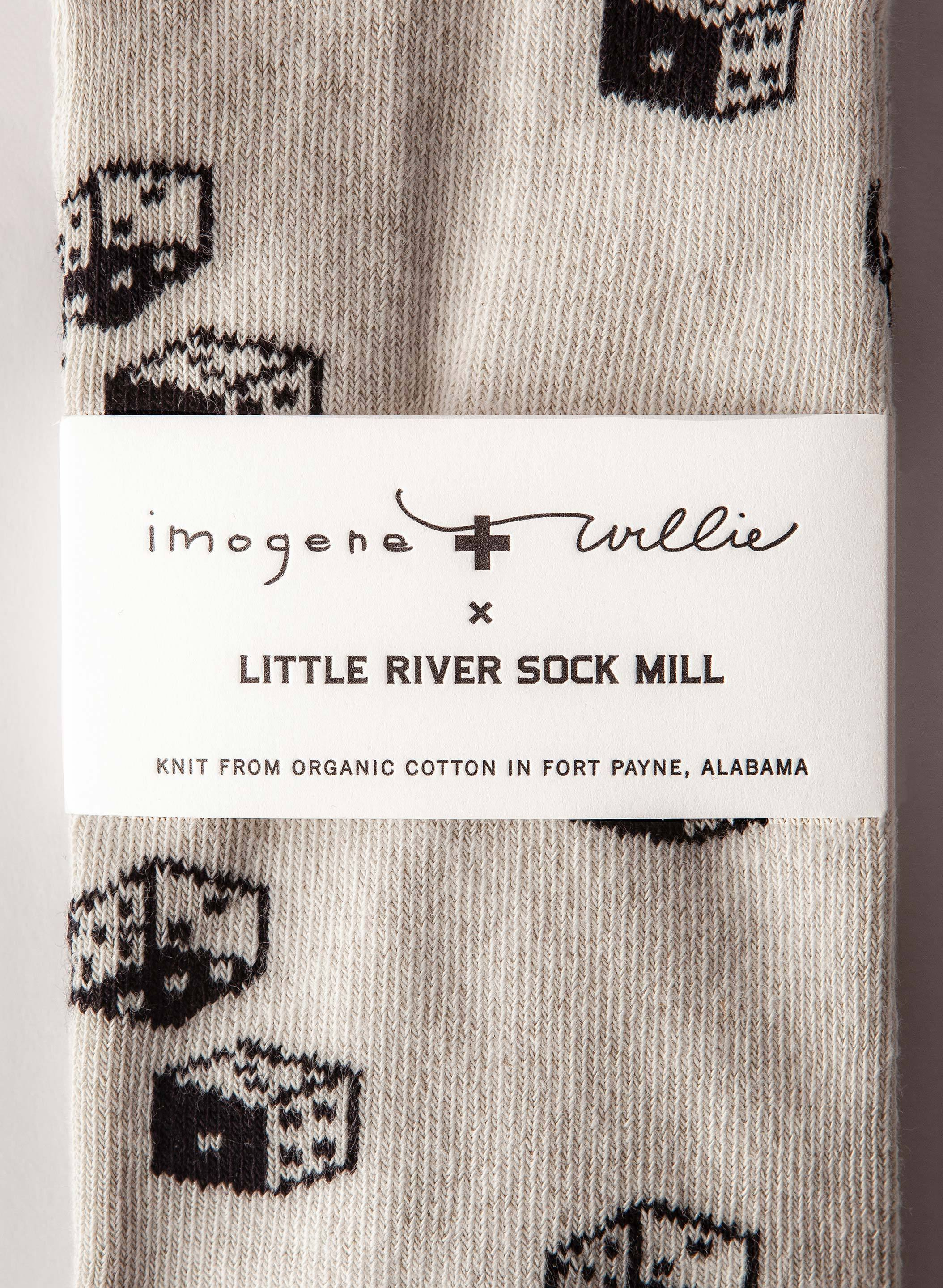 imogene + willie - dice sock in natural