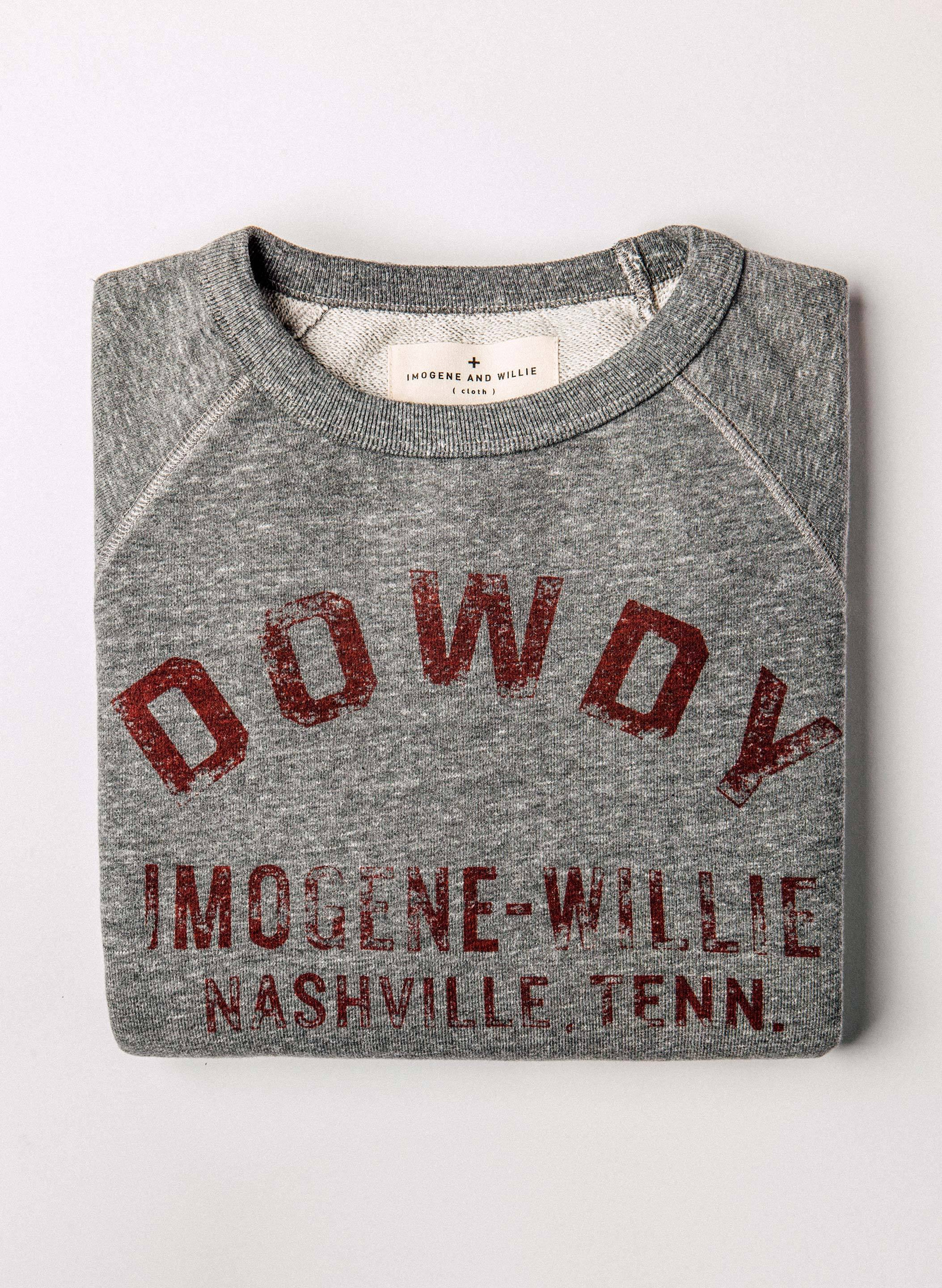 "imogene + willie - the ""dowdy"" sweatshirt in grey"