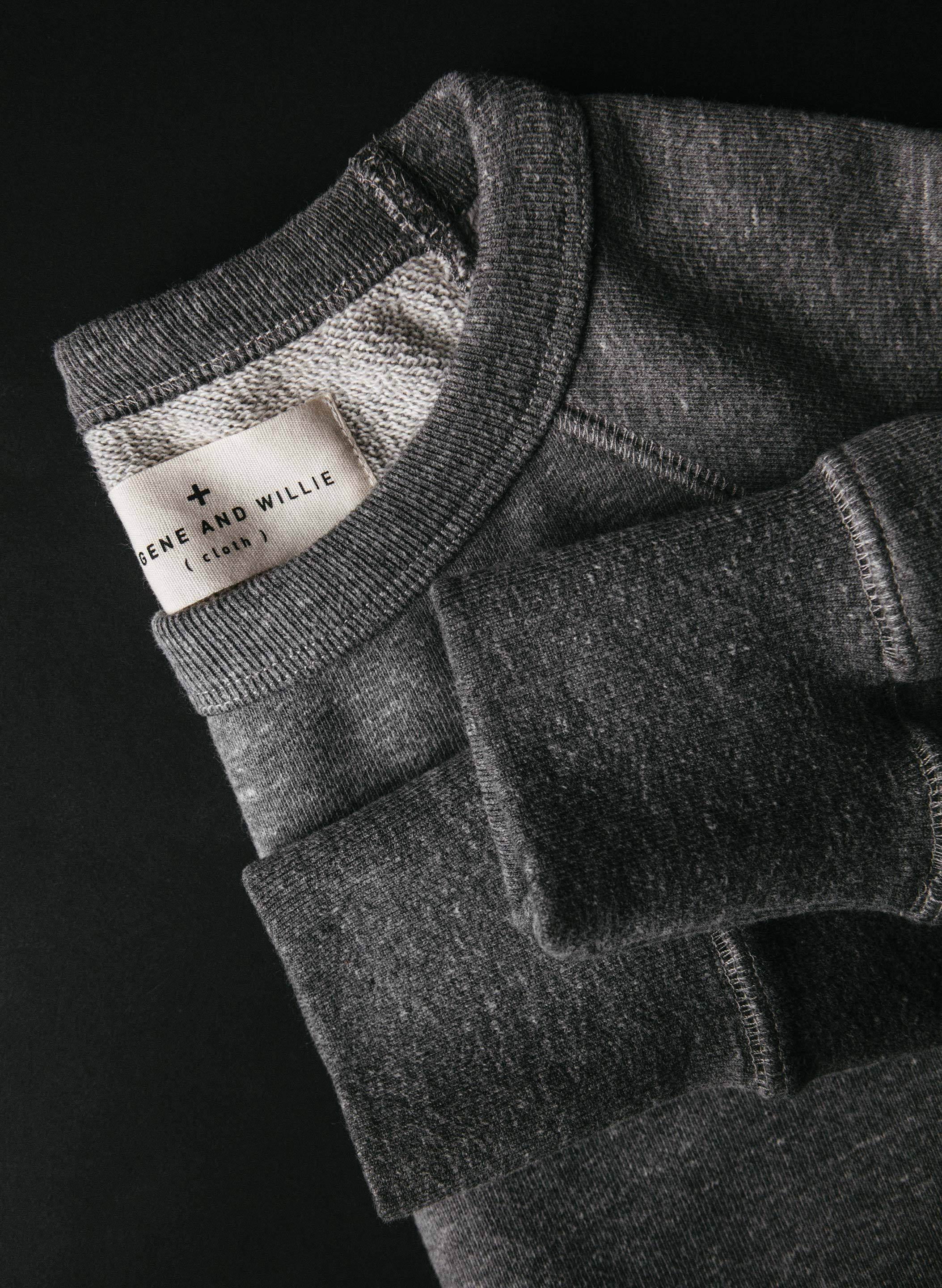 imogene + willie - the dryden sweatshirt in heather grey