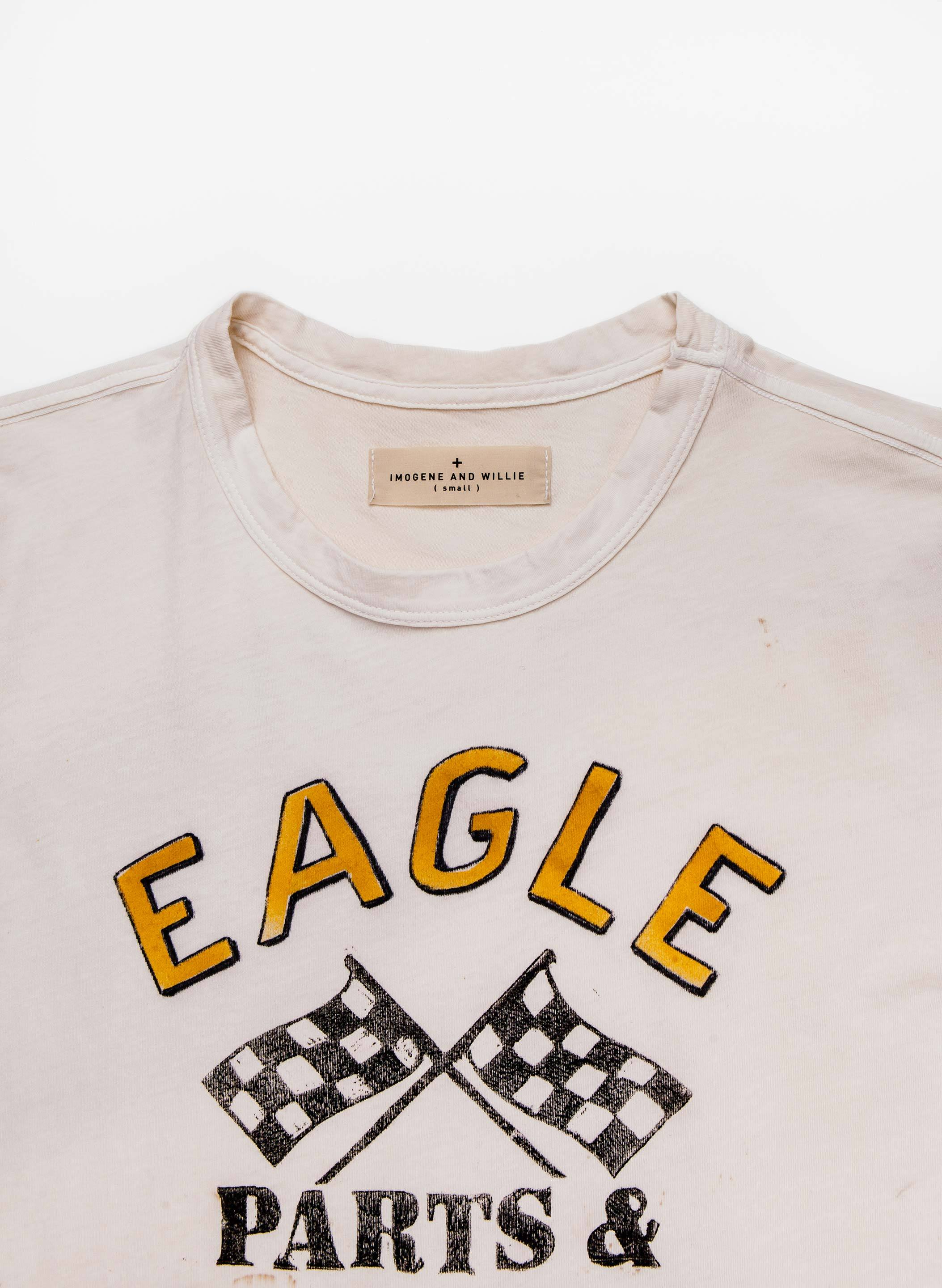 "imogene + willie - the handpainted ""parts & service"" tee"