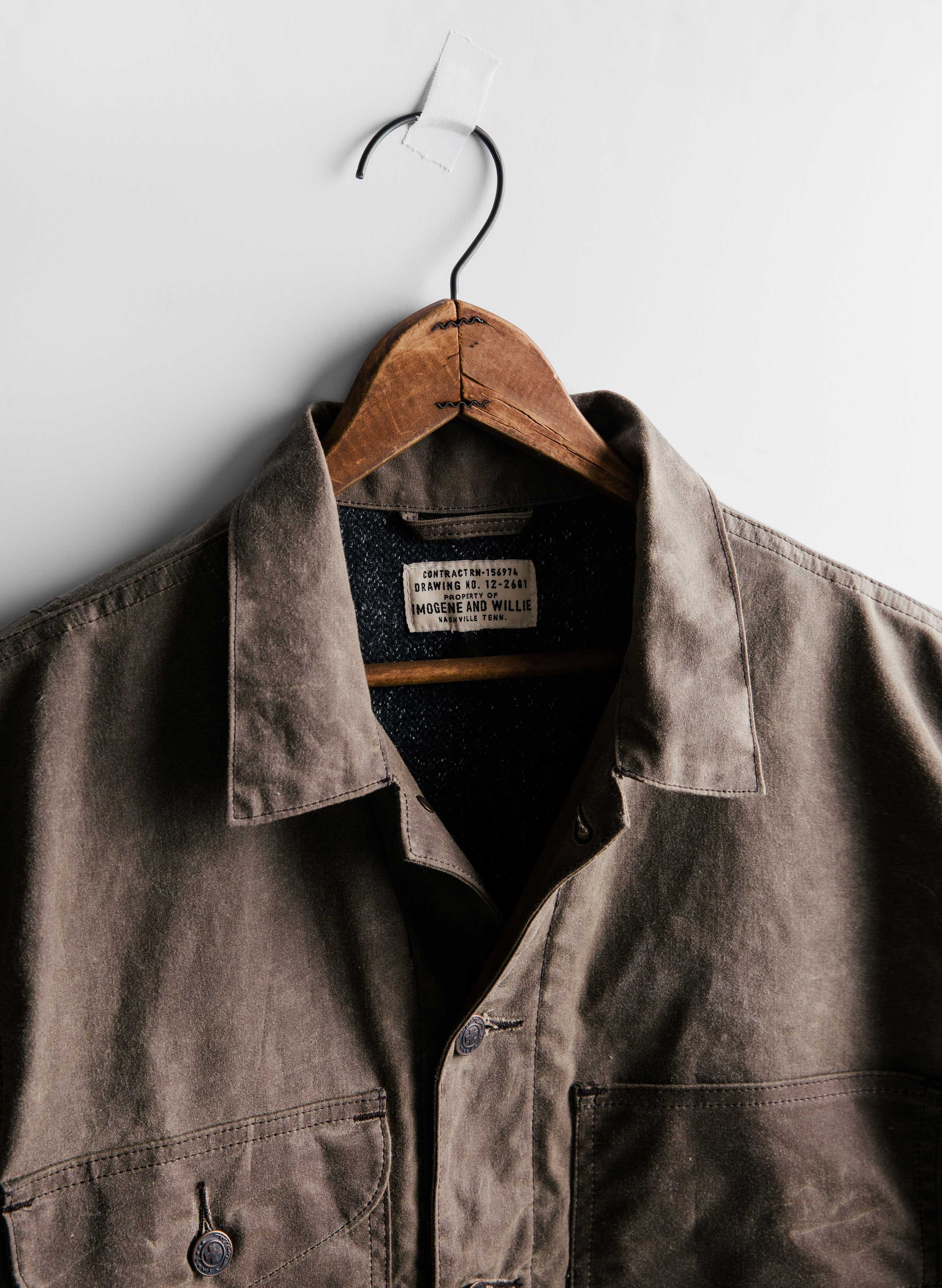 imogene + willie - enfield hunting jacket in burnt umber