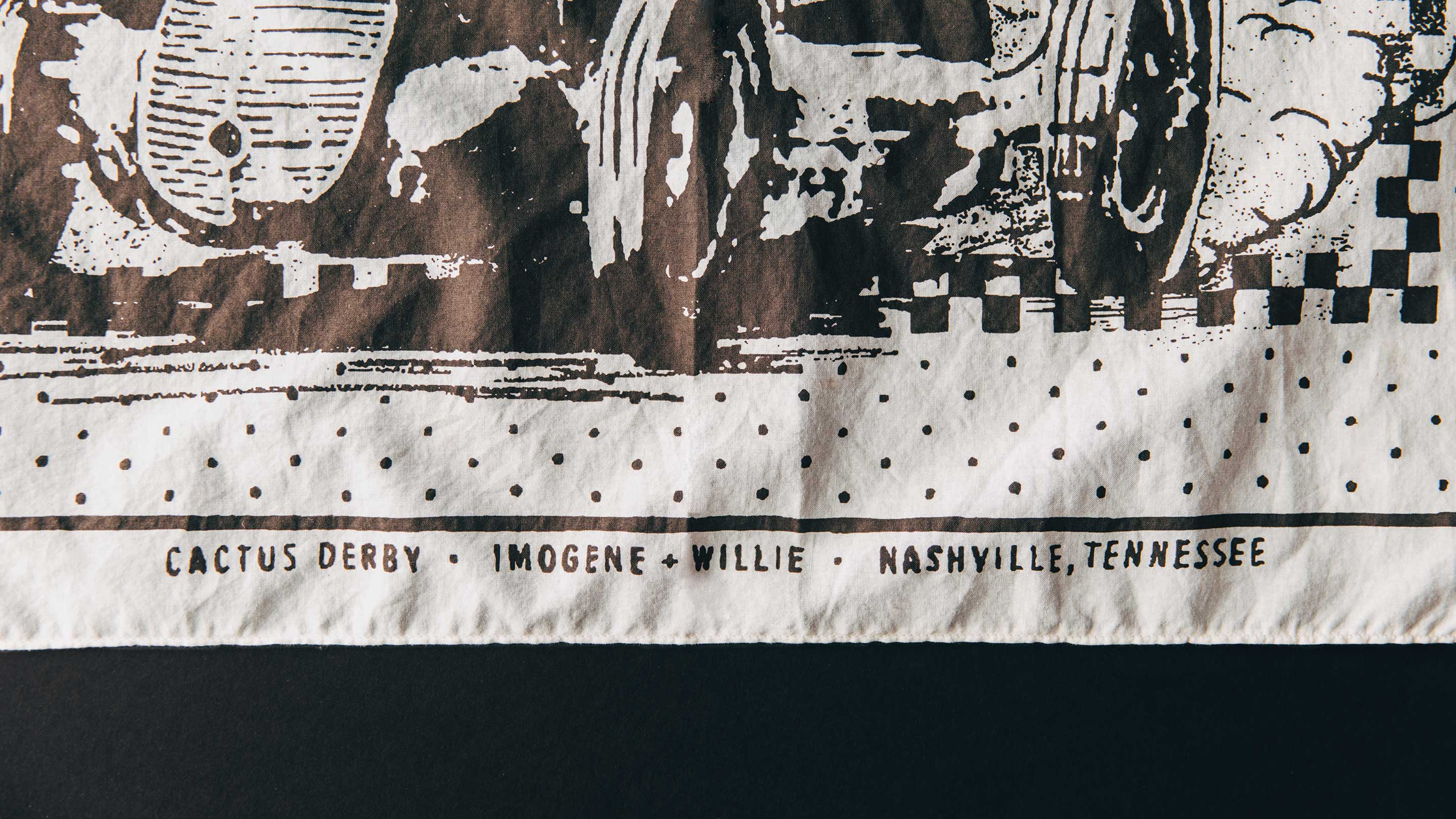 "imogene + willie - the ""cactus derby"" bandana"