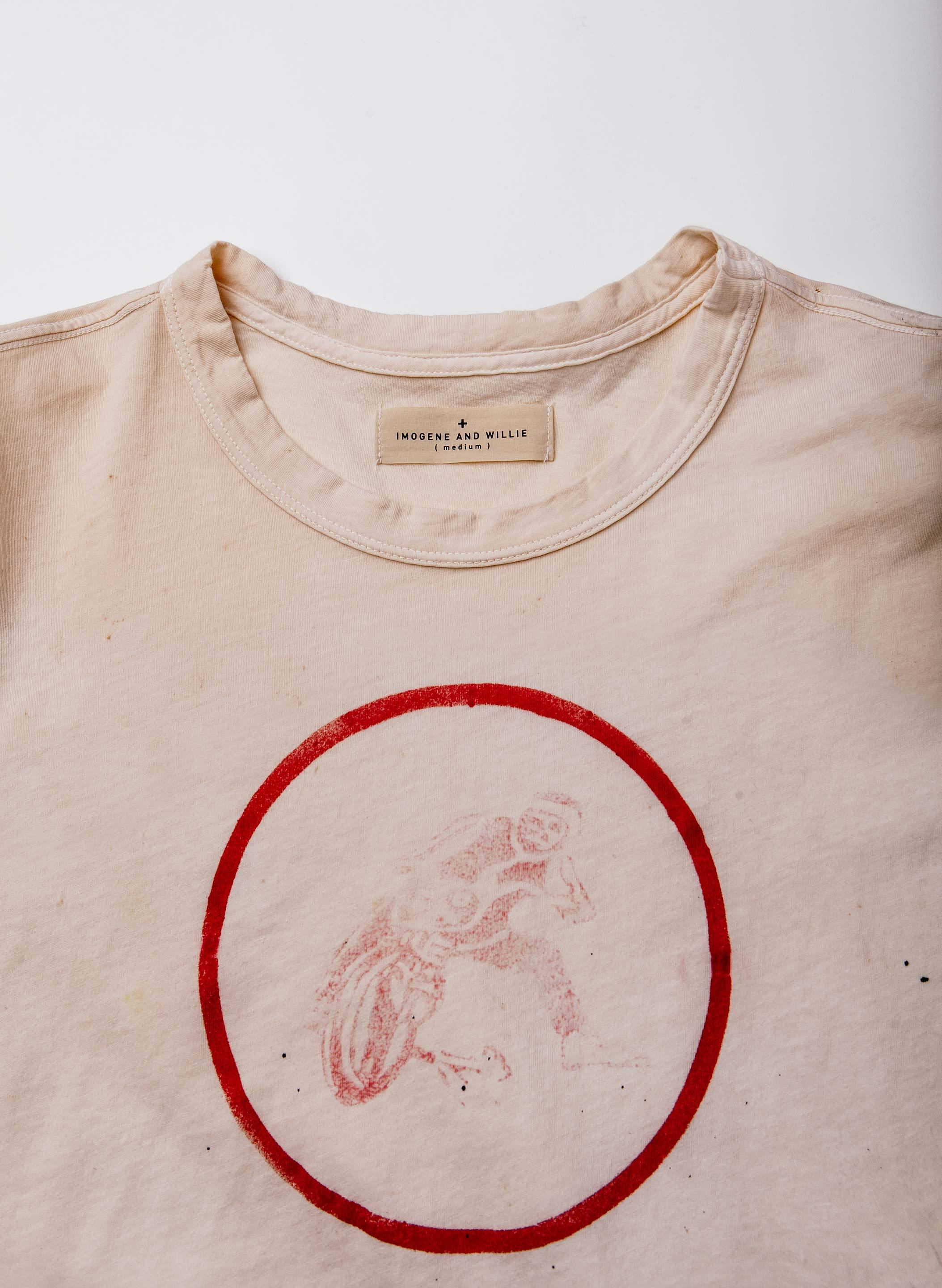"imogene + willie - the handpainted ""counter steering"" tee"