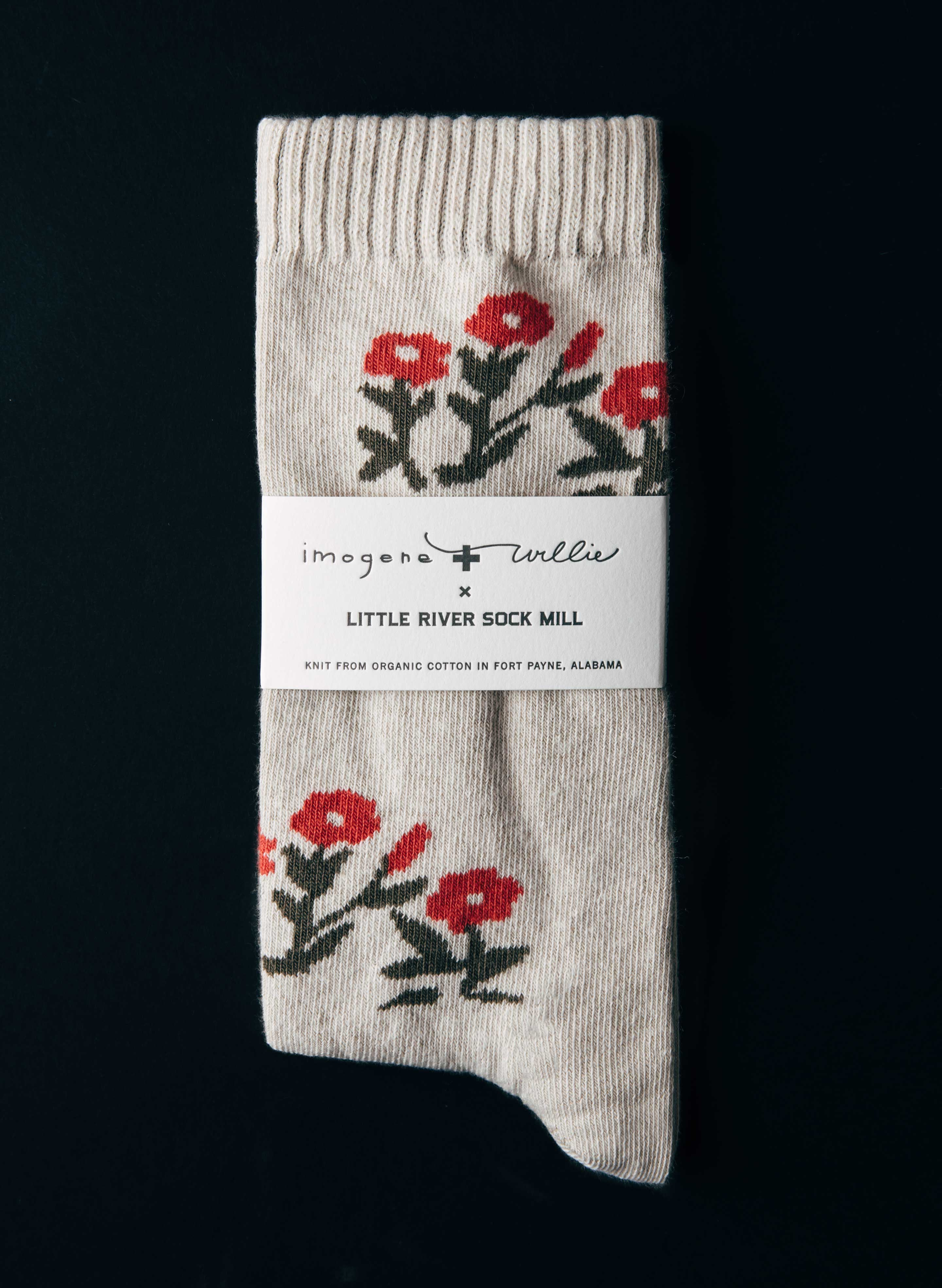 imogene + willie - rosebud sock in natural