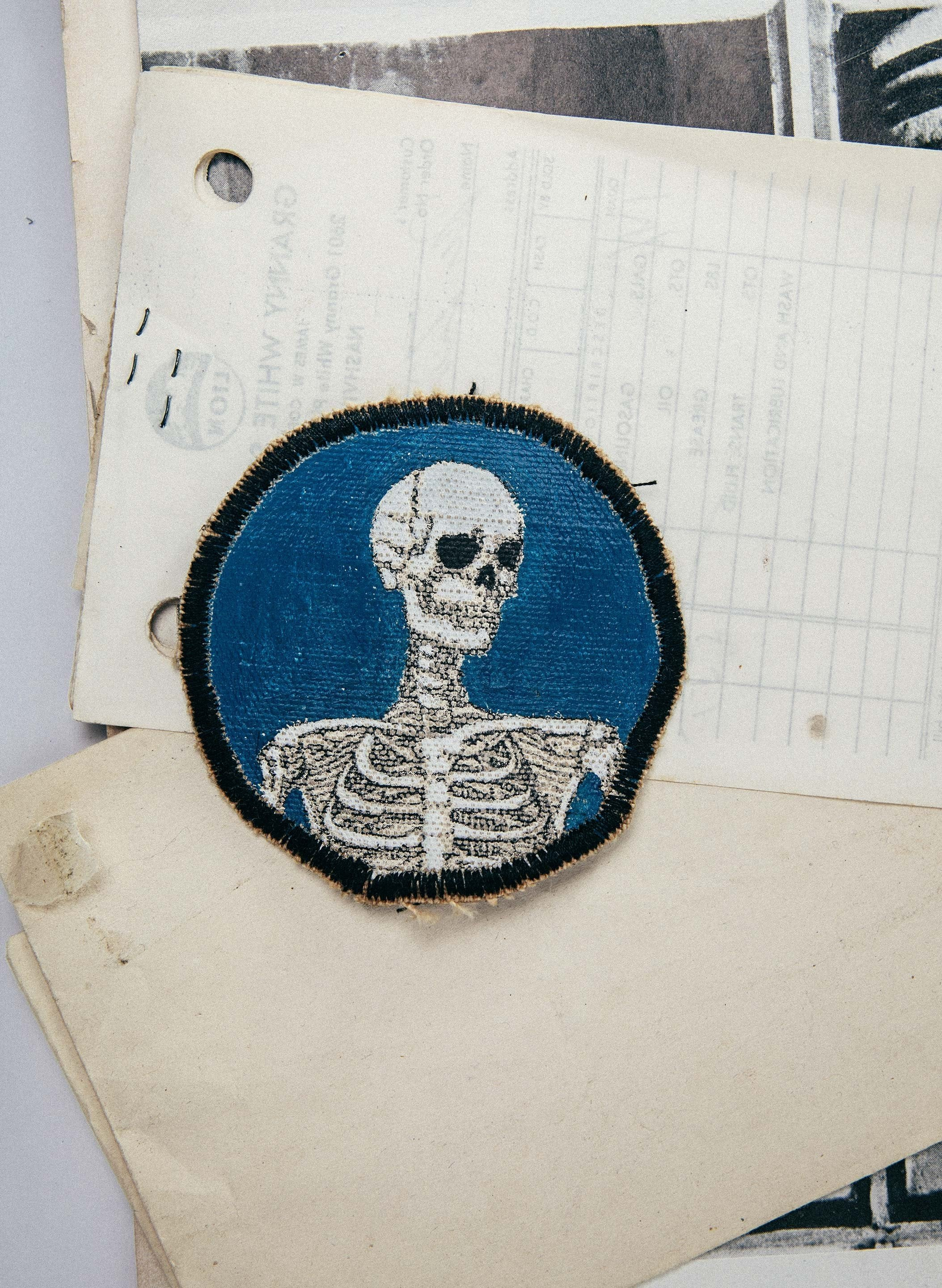 "imogene + willie - painted ""death is certain"" patch"