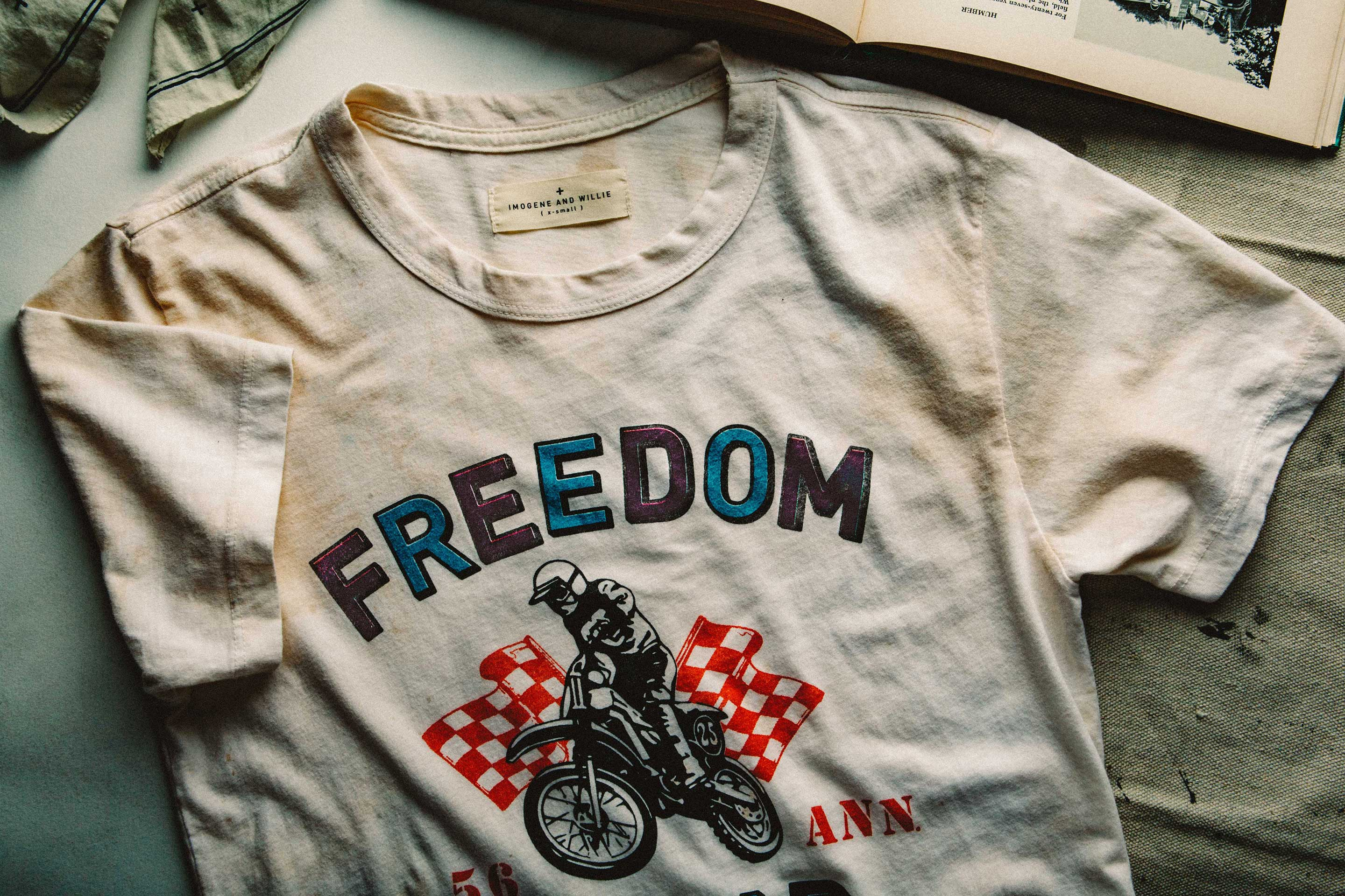 "imogene + willie - the ""freedom tour"" tee"