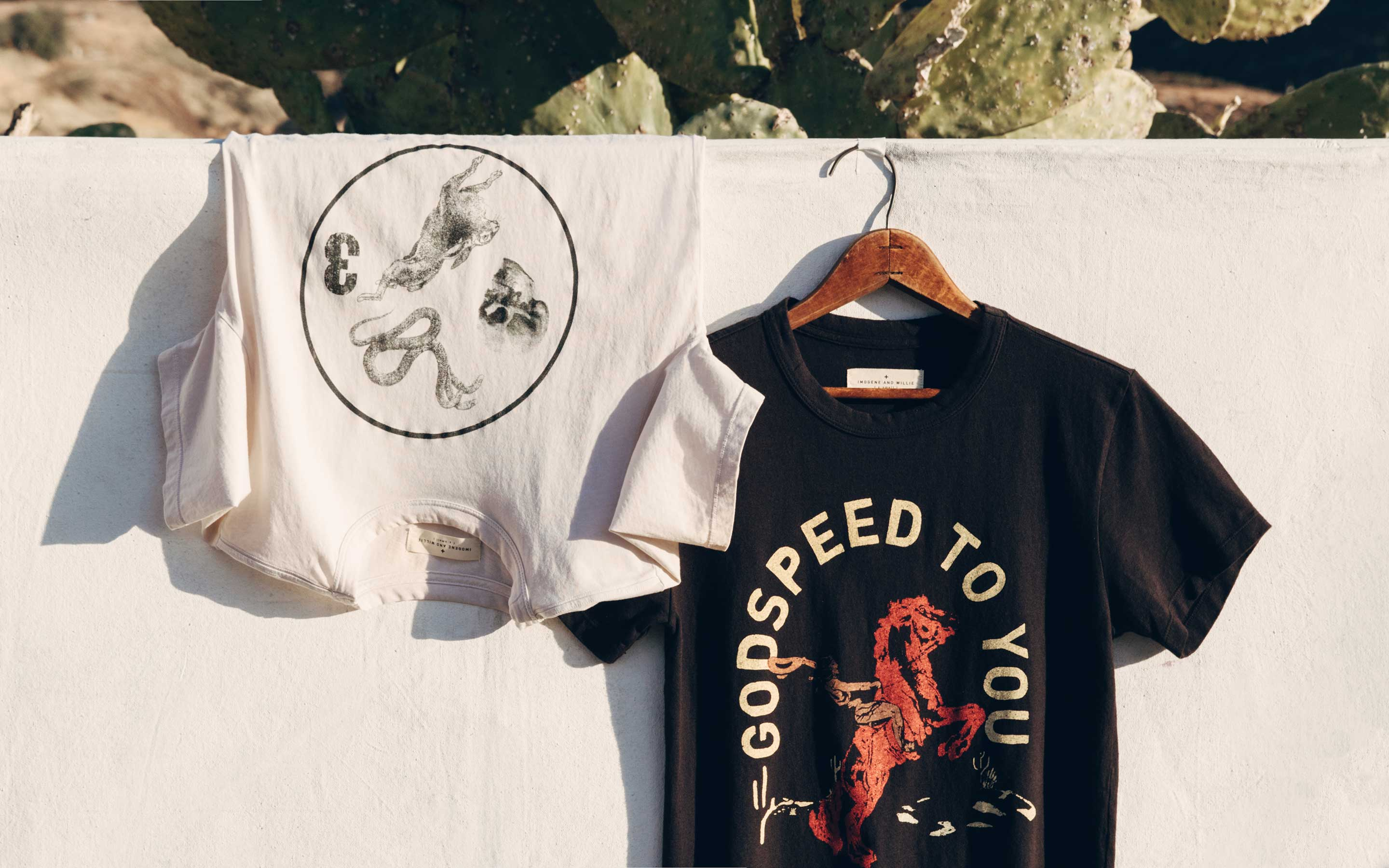 "imogene + willie - the ""godspeed"" tee"
