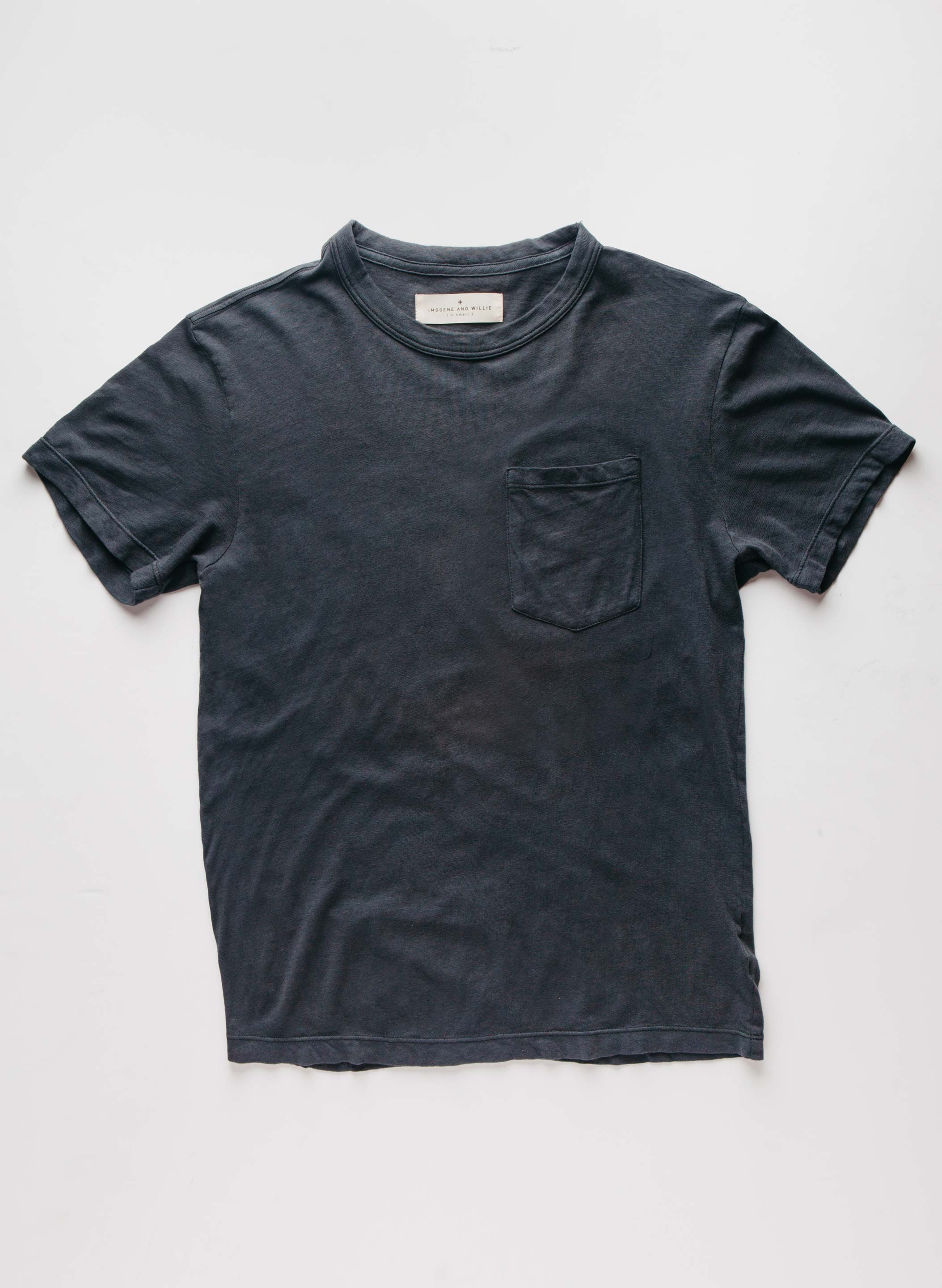 imogene + willie - graphite knit pocket tee