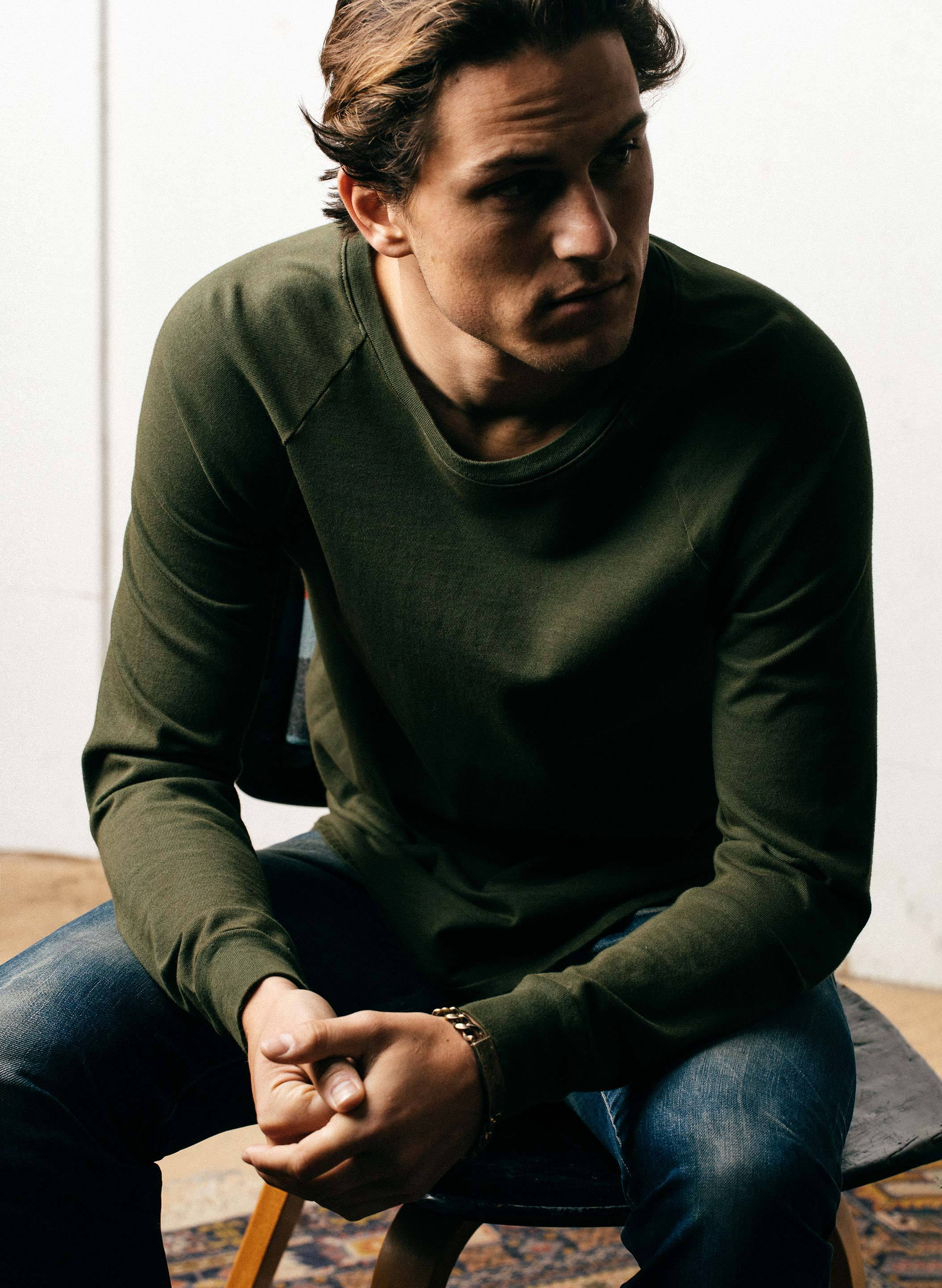 imogene + willie - long sleeve raglan forest green