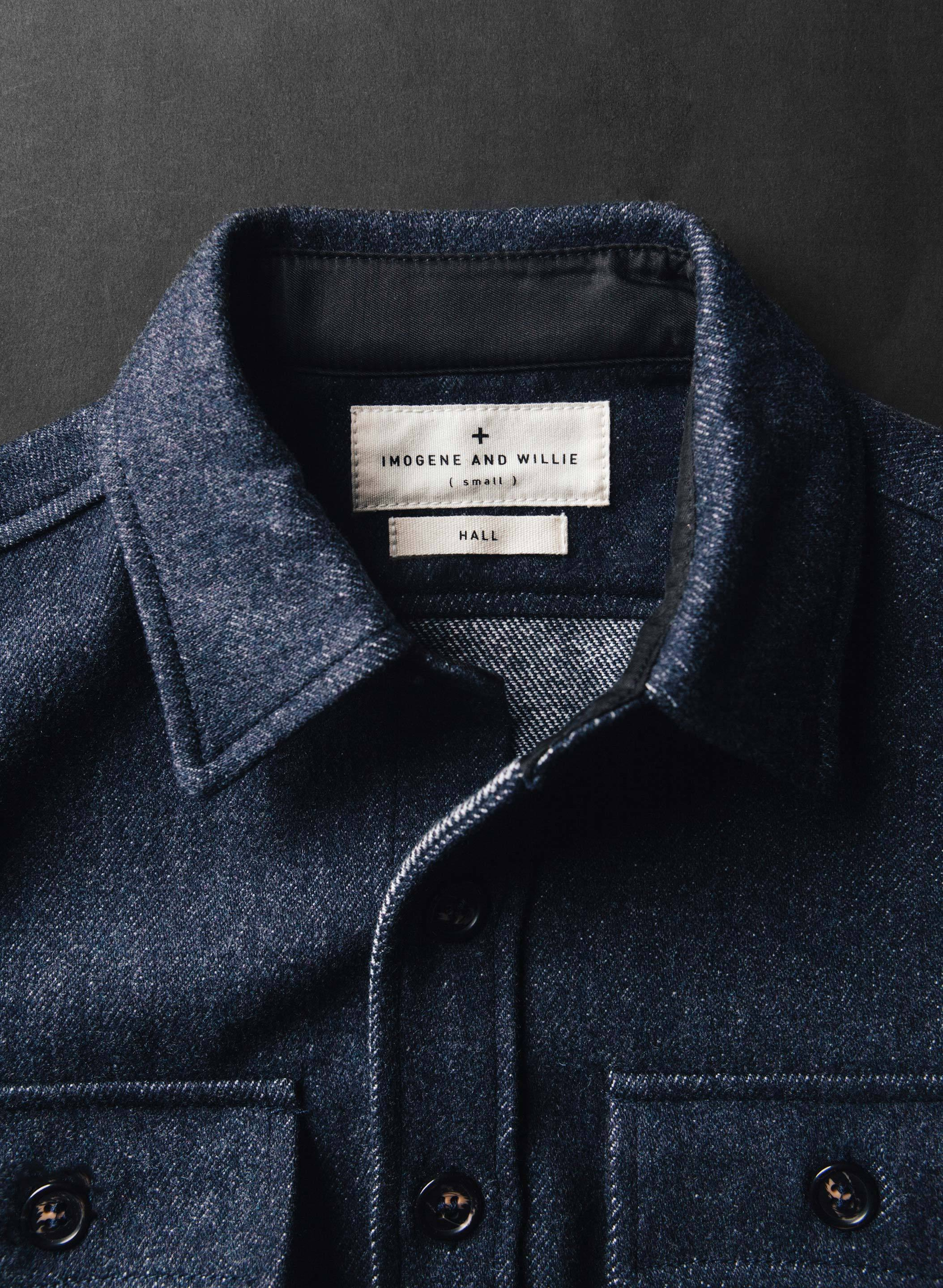 imogene + willie - hall cpo shirt in navy