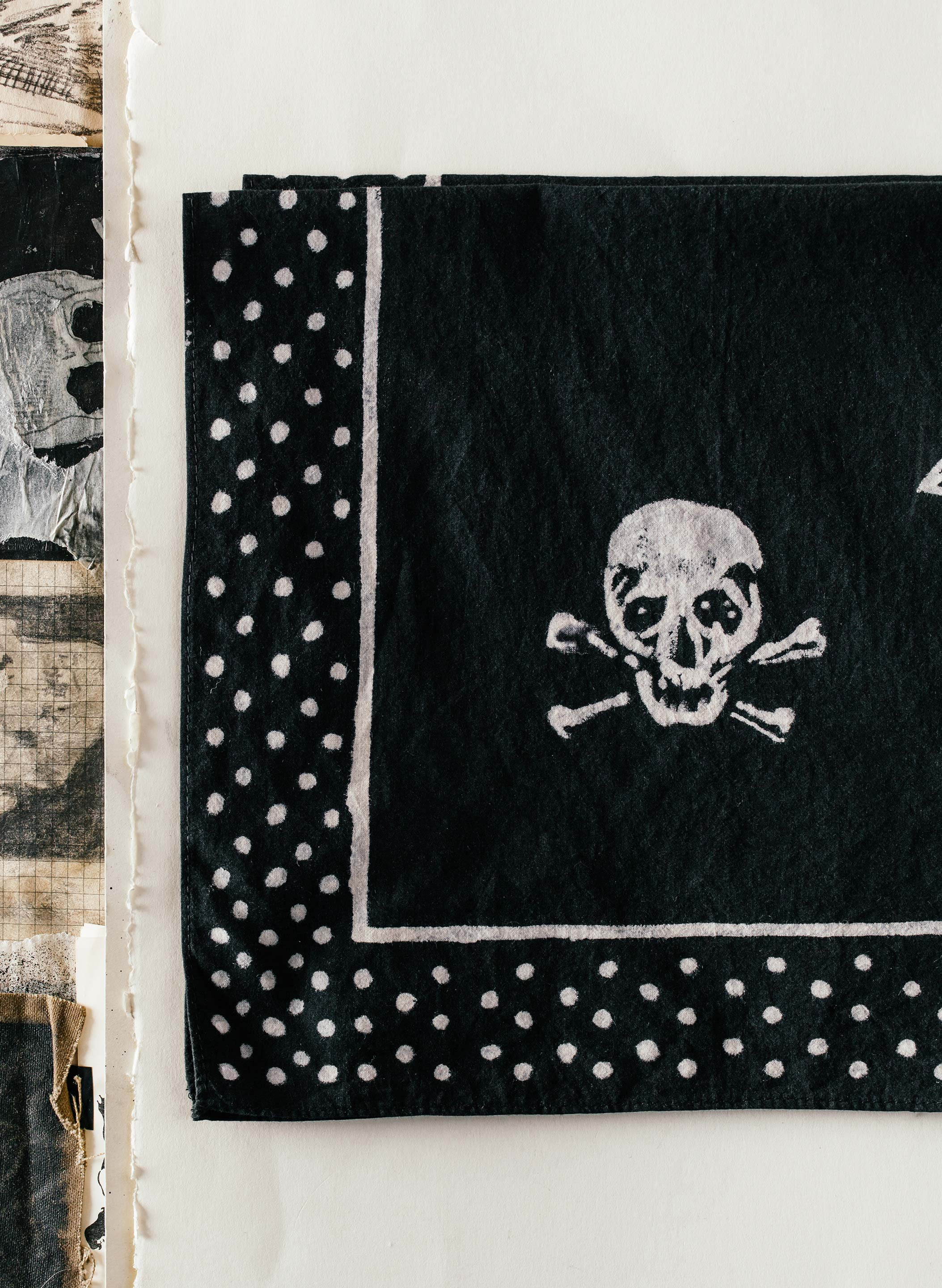 "imogene + willie - handpainted ""hand of fate"" bandana"