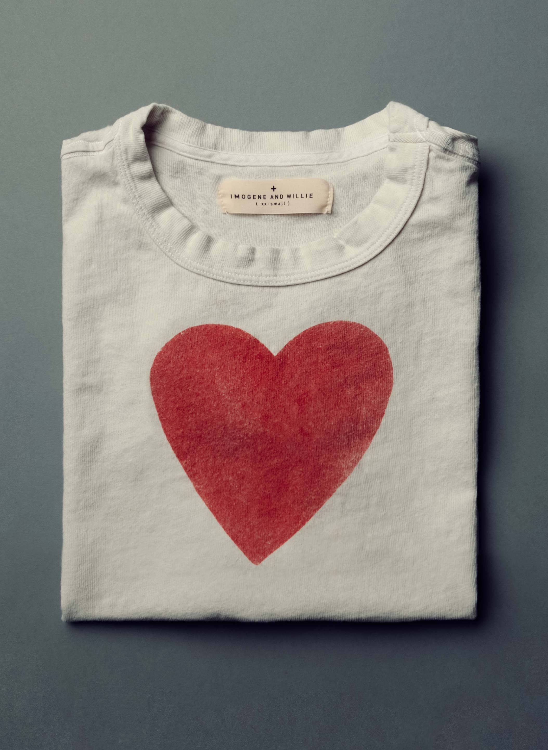 "imogene + willie - the ""heart"" tee"