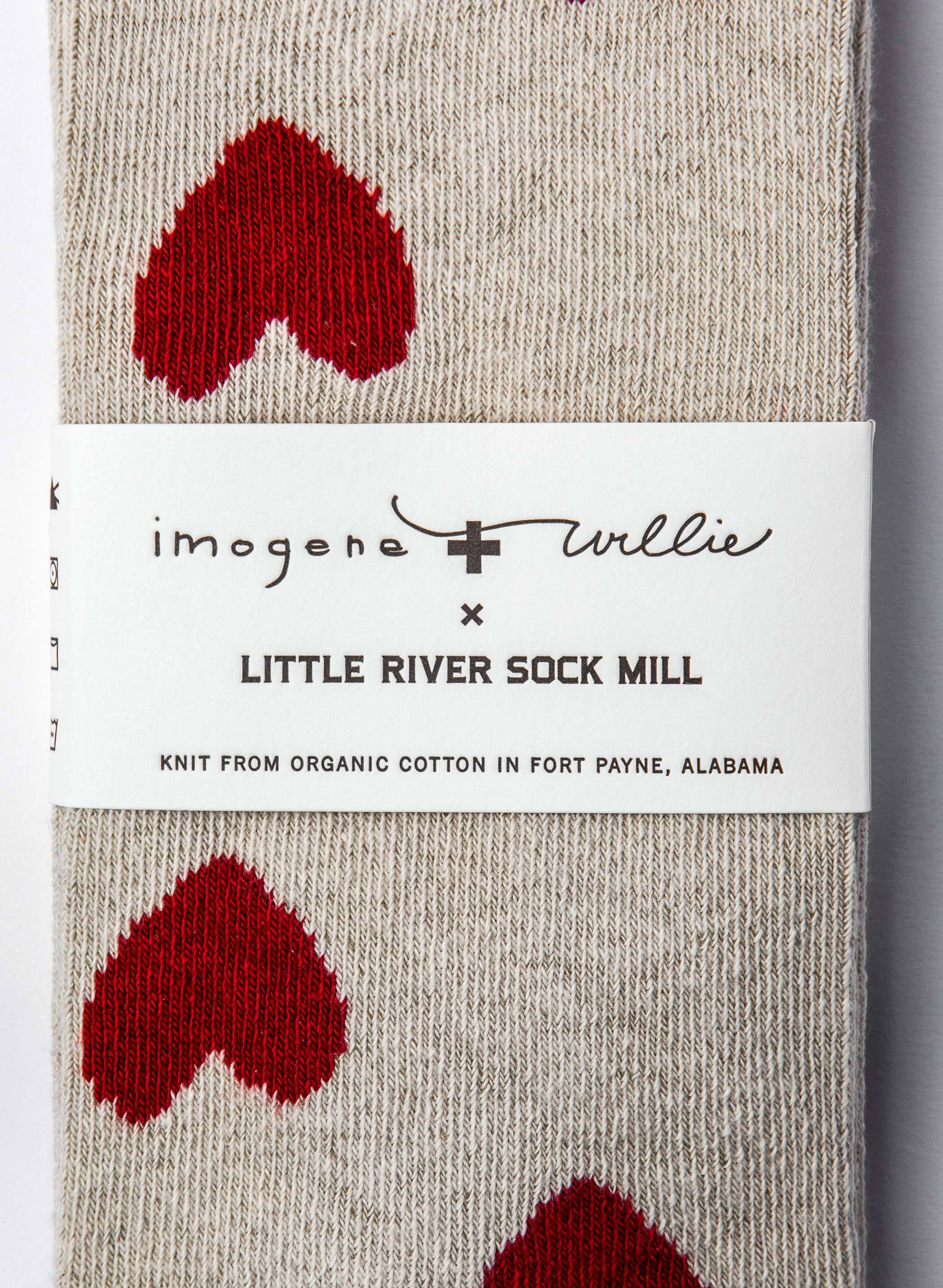 imogene + willie - heart sock in natural