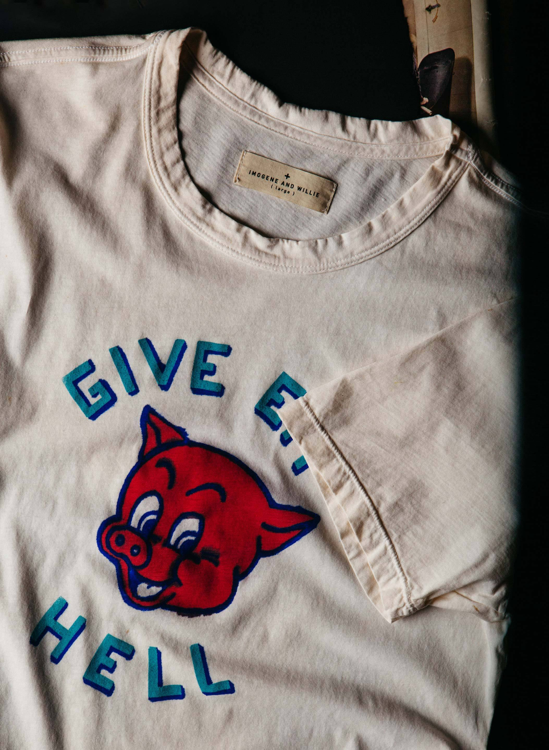 "imogene + willie - the handpainted ""piggy"" tee"