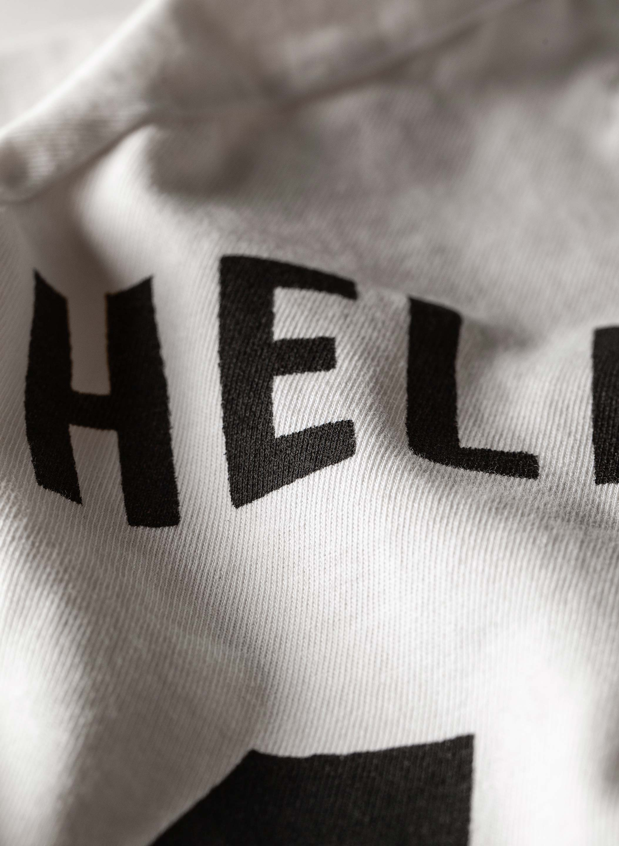 "imogene + willie - white knit ""hellcats"" raglan"
