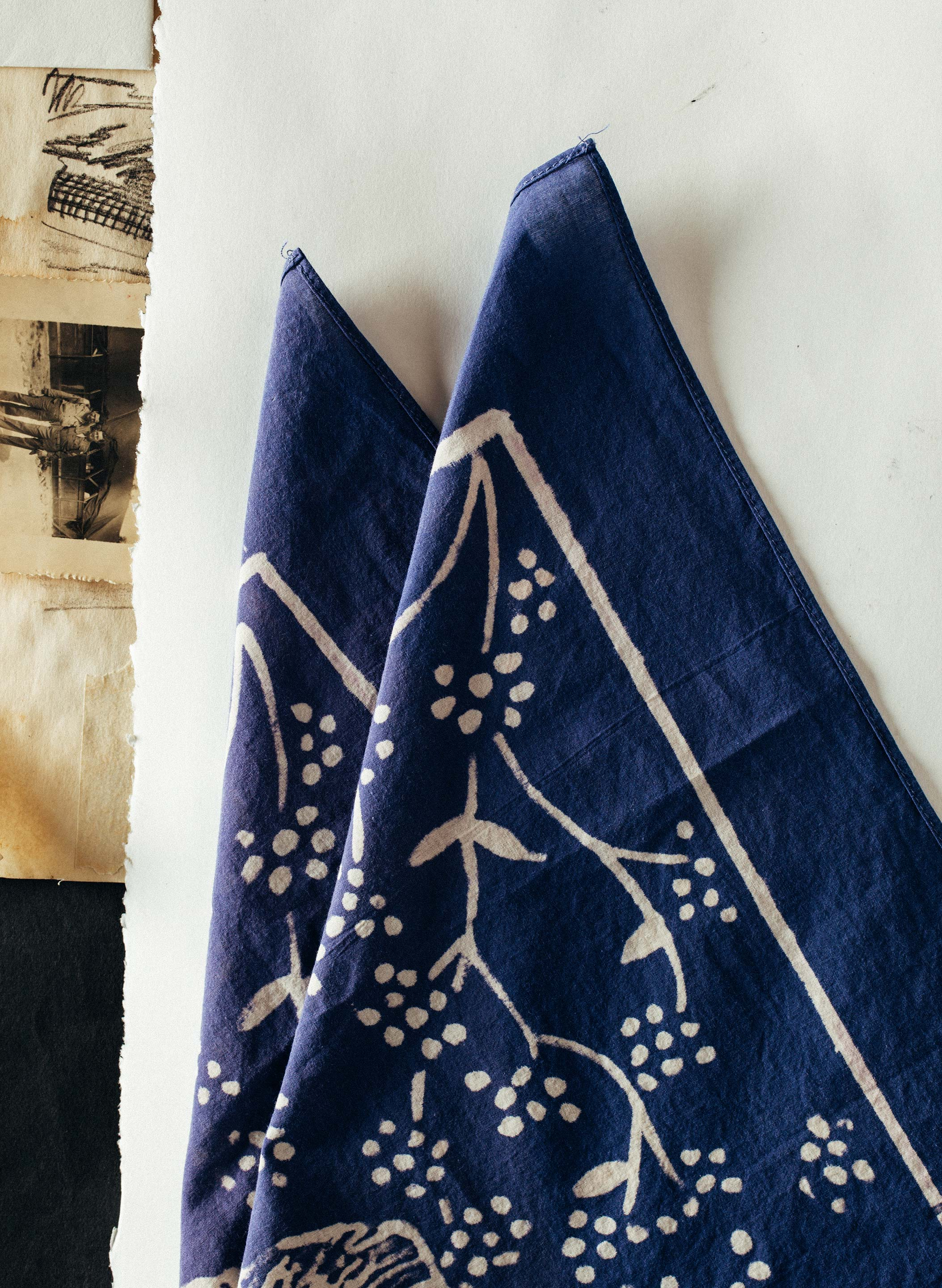 "imogene + willie - handpainted ""highwayman"" bandana"
