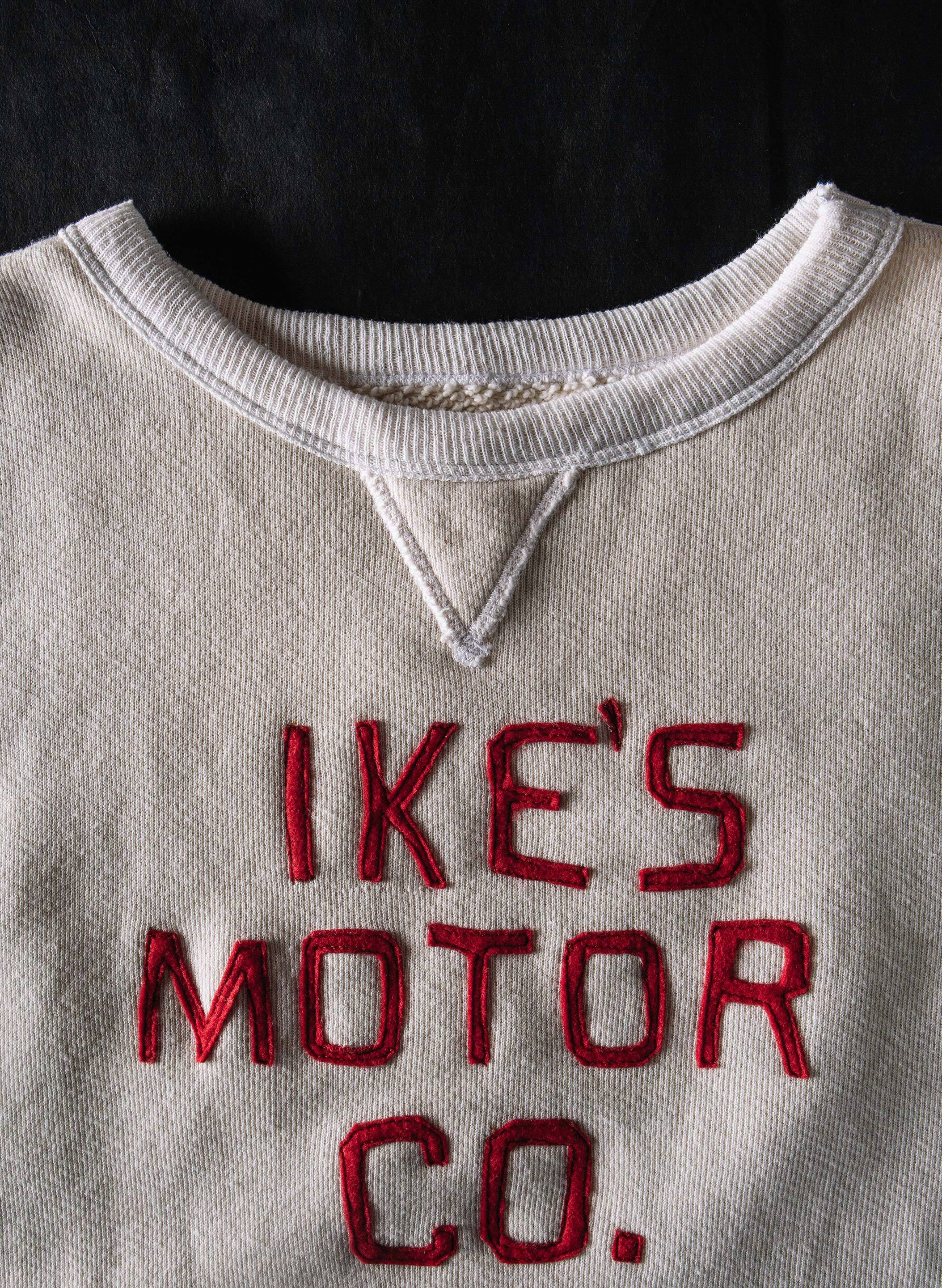 "imogene + willie - stitched ""ike's motor co."" sweatshirt"