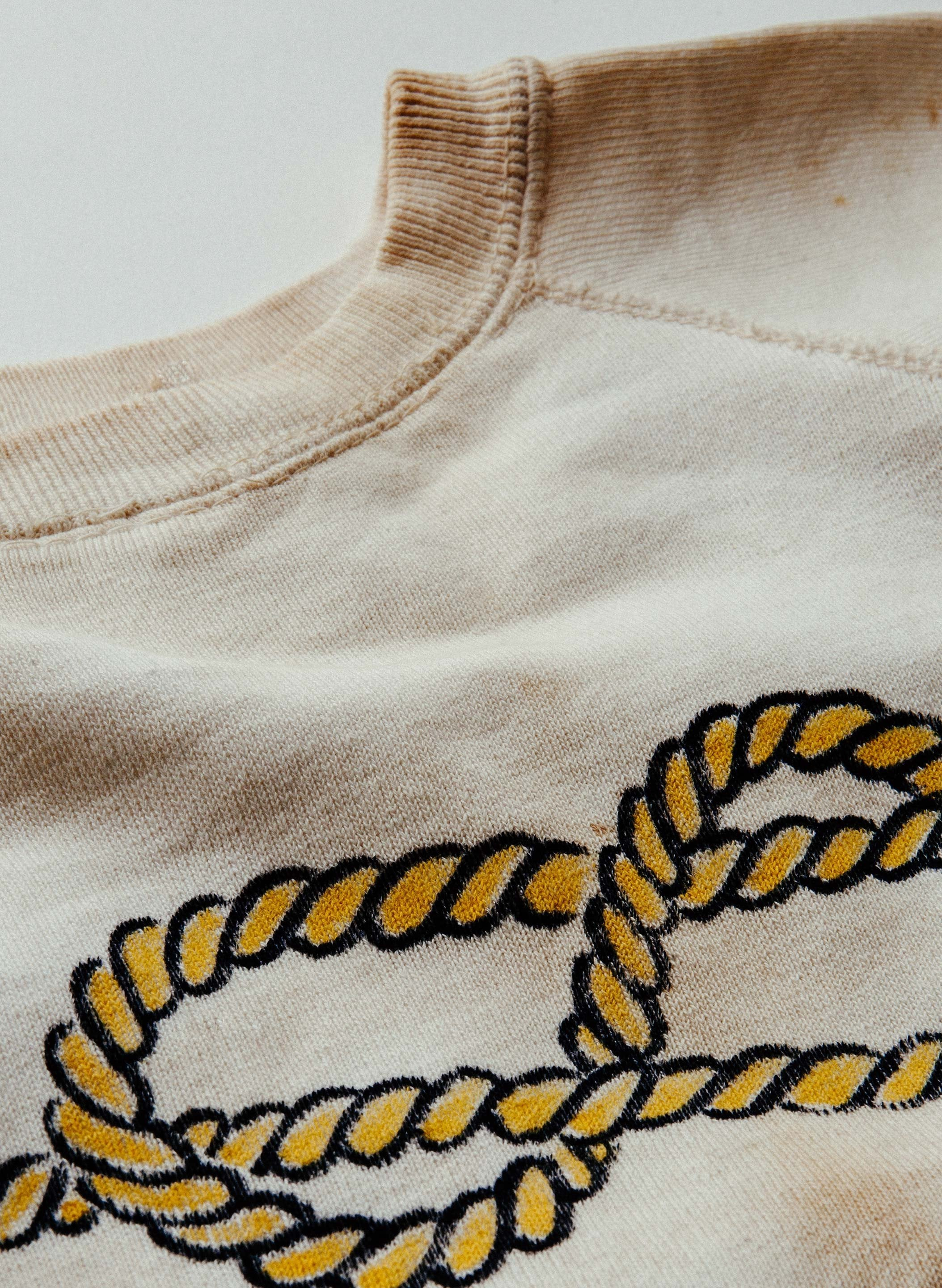 imogene + willie - vintage white knit sweatshirt