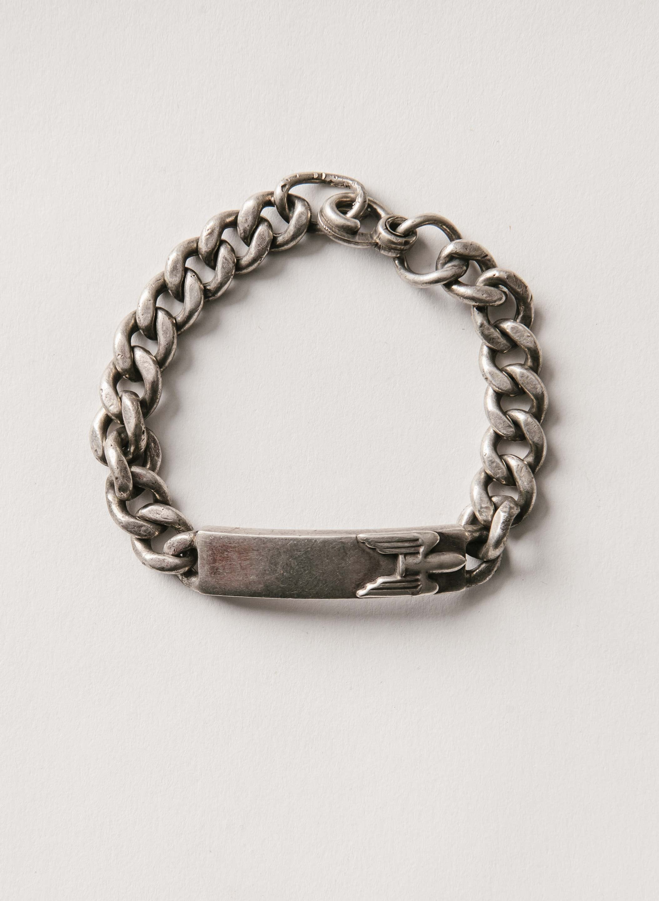 imogene + willie - wwii sterling id bracelet