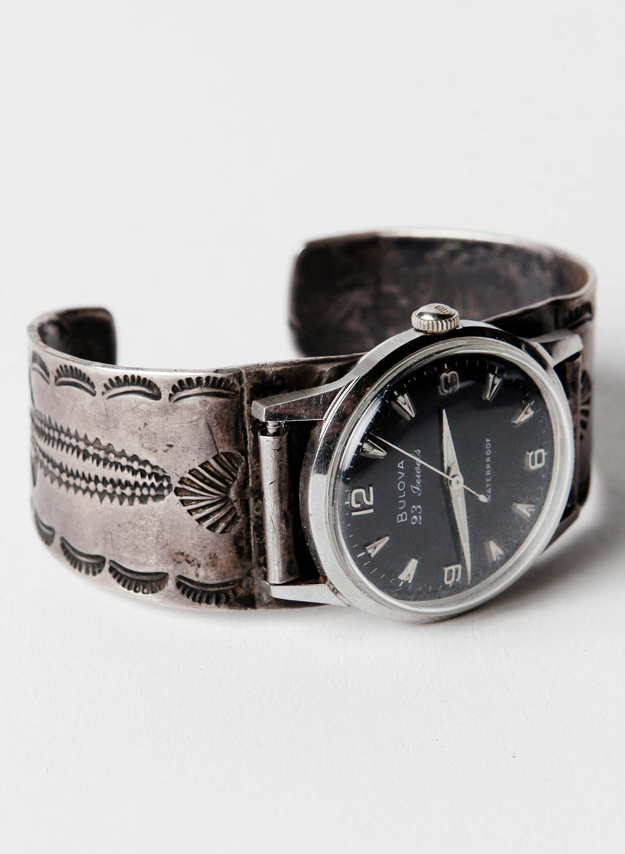 imogene + willie - vintage stamped silver watch cuff