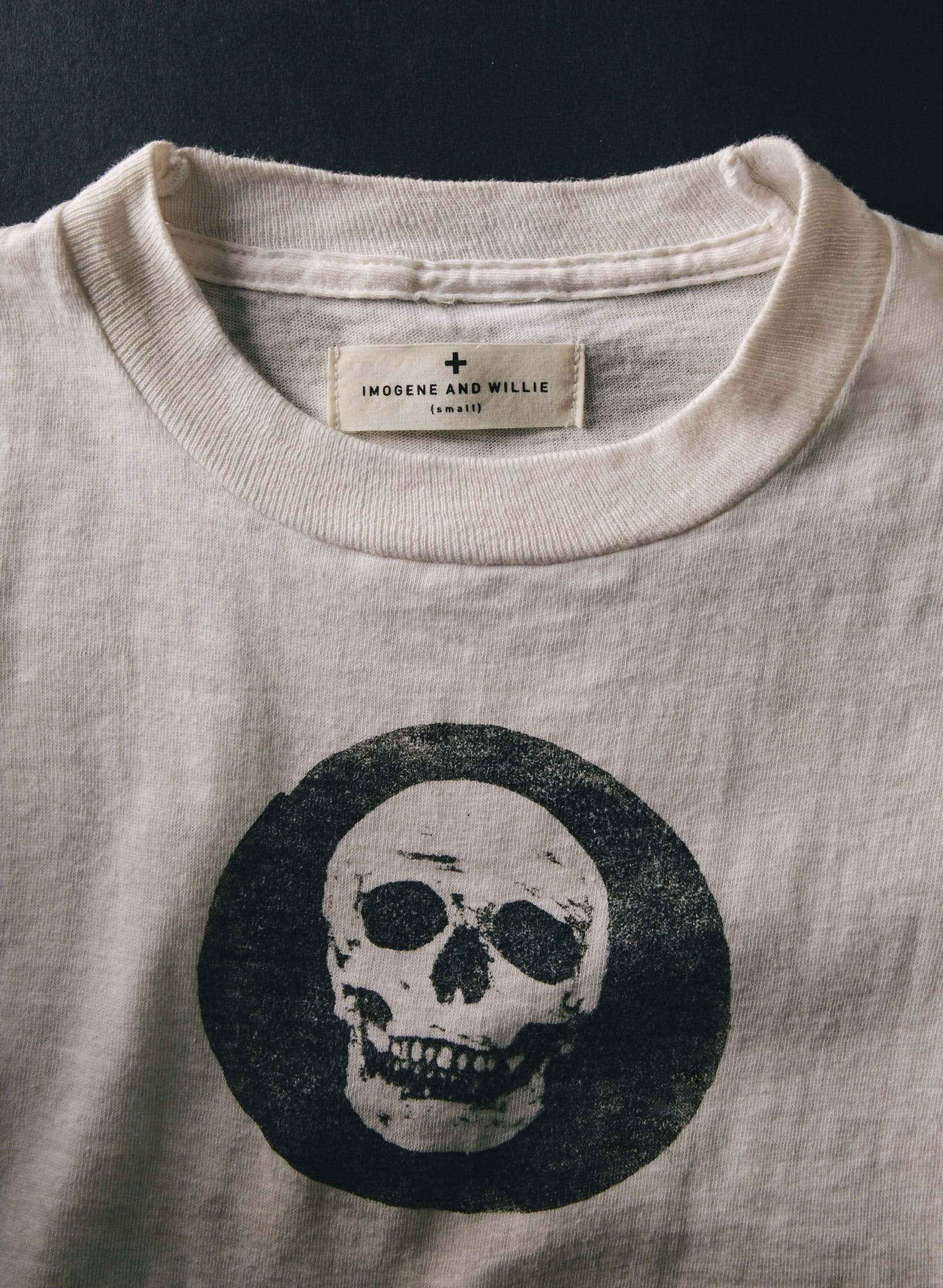 "imogene + willie - the little ""numb skull"" tee"