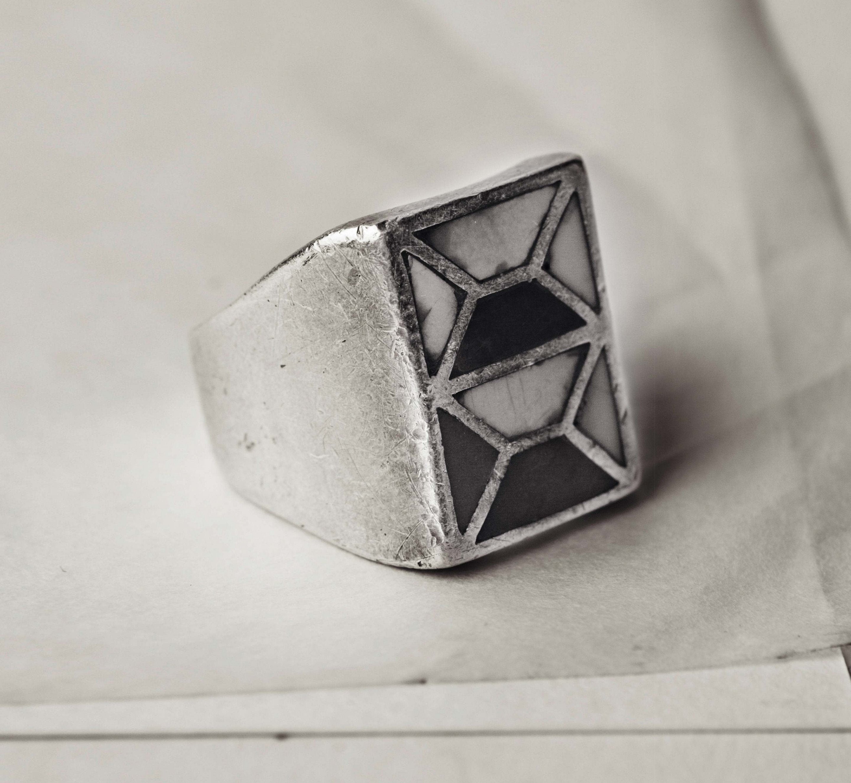 "imogene + willie - vintage ""nampeyo"" mosaic ring"