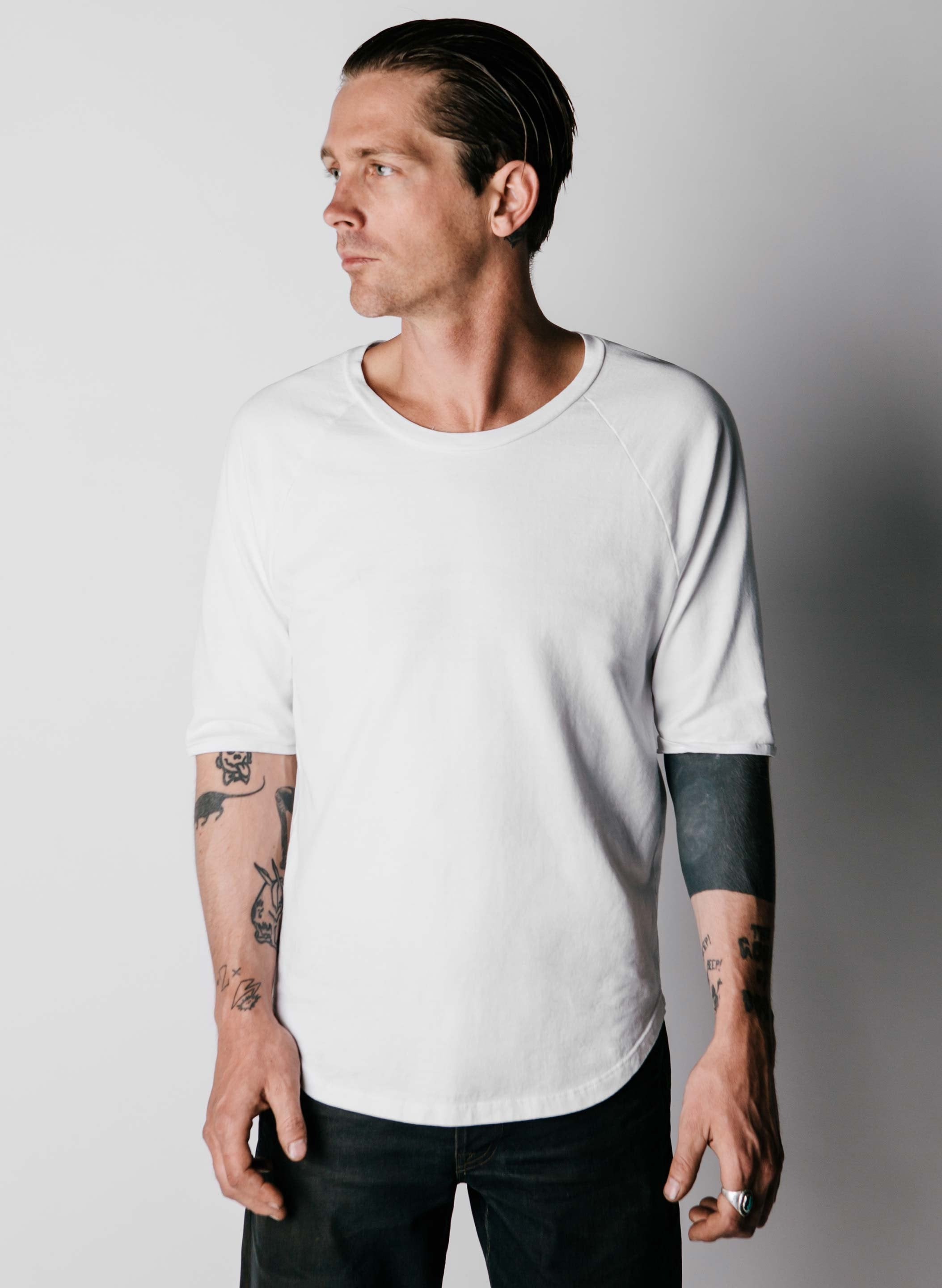 imogene + willie - white knit raglan