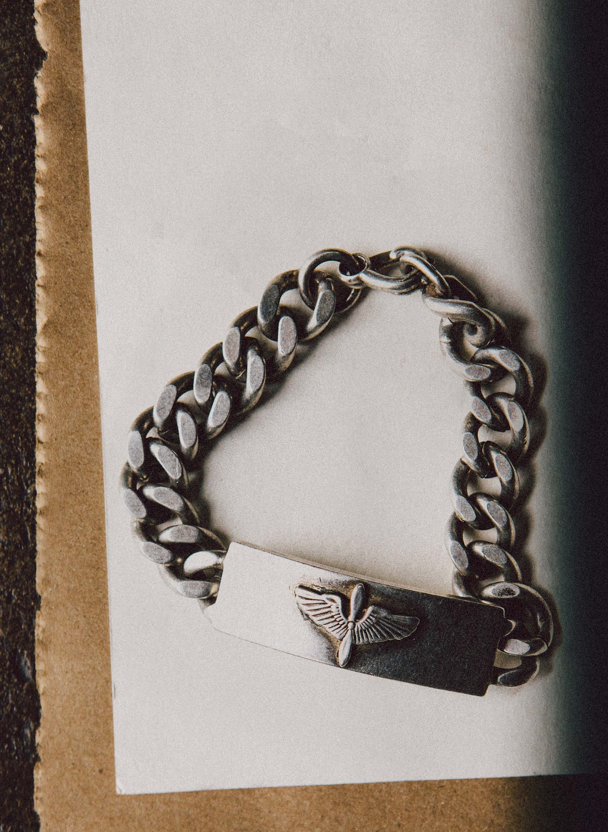 "imogene + willie - wwii ""from mother"" id bracelet"