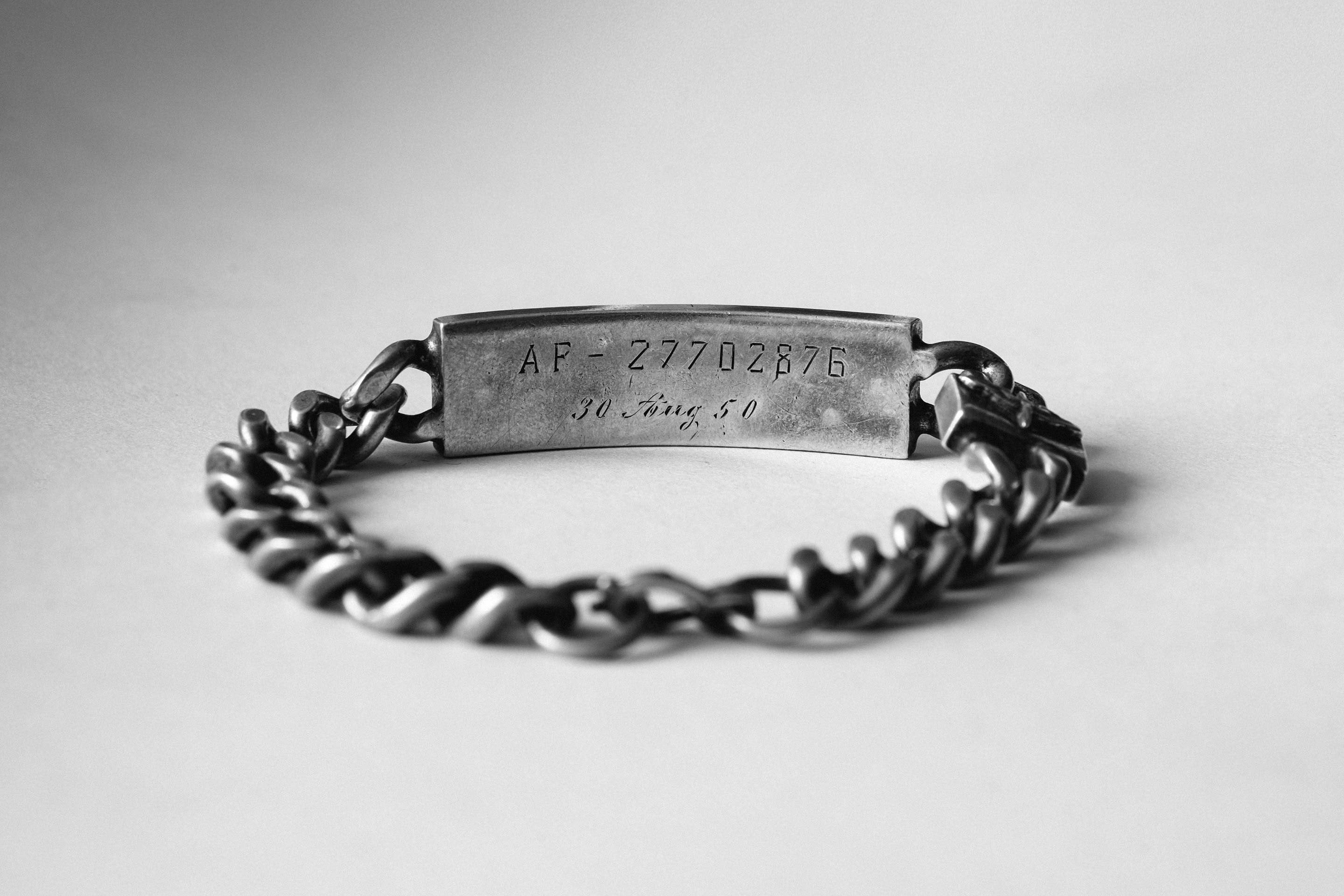 "imogene + willie - wwii ""aug 30 1950"" id bracelet"