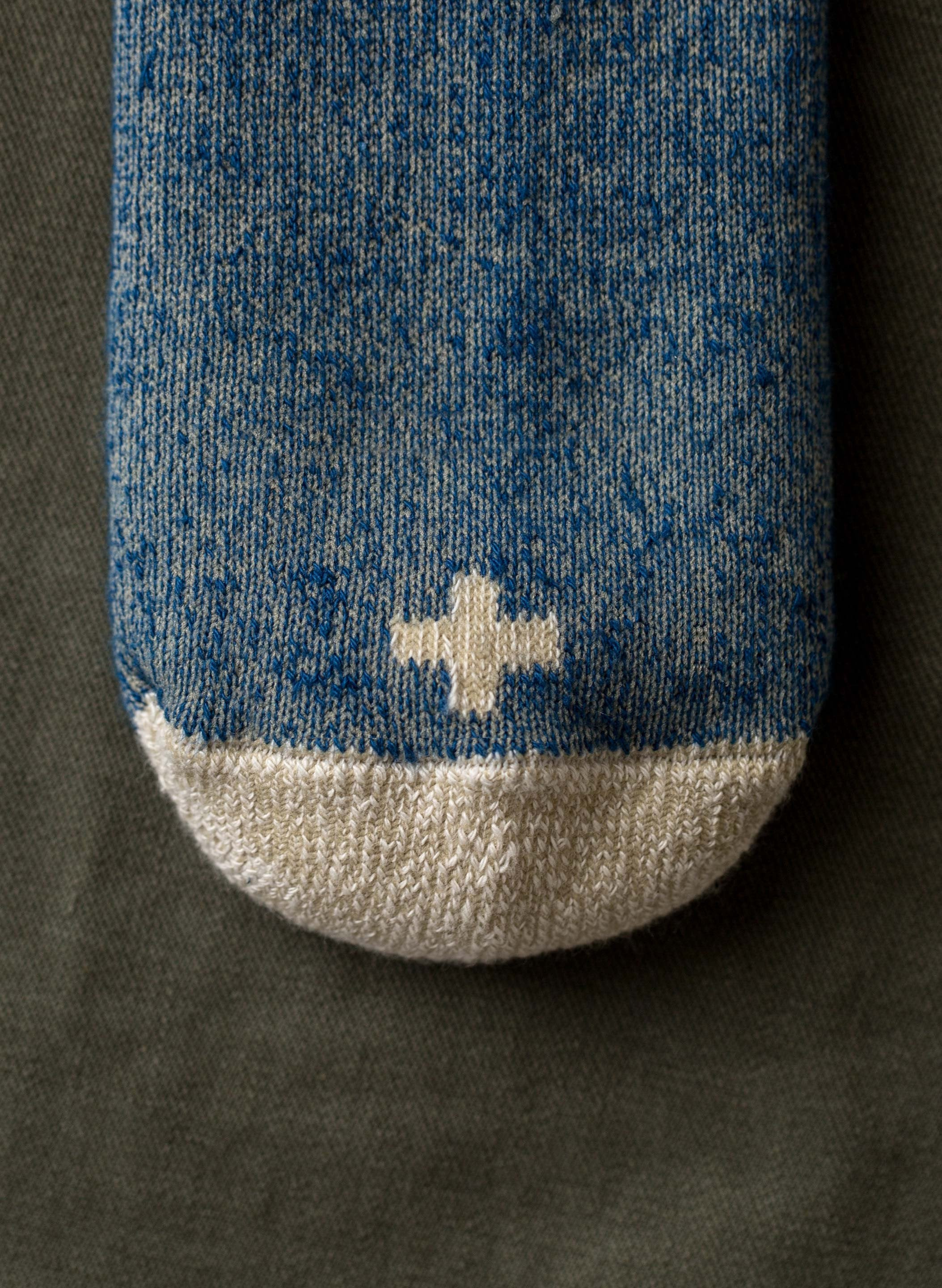 imogene + willie - boot sock in marled indigo
