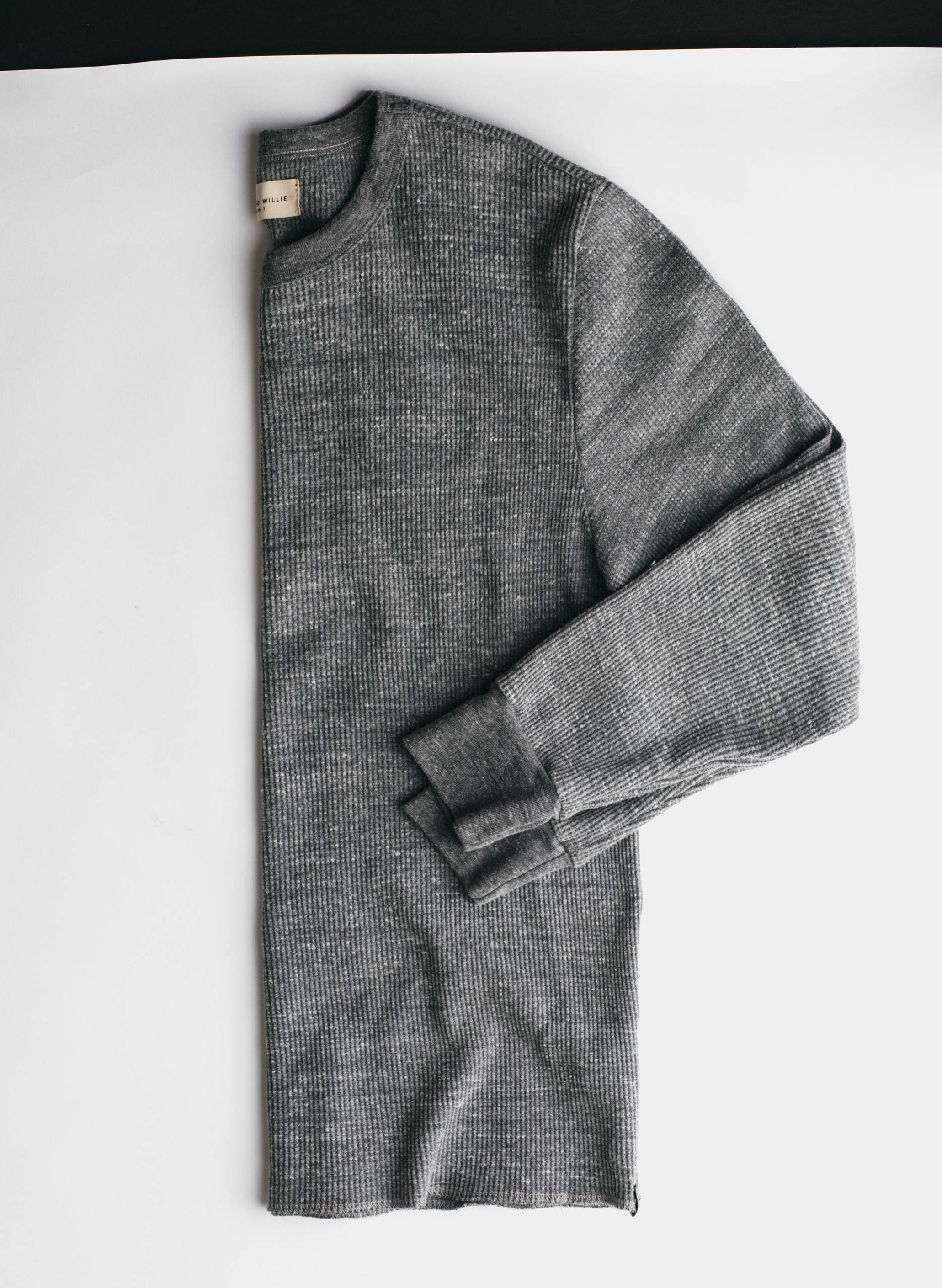 imogene + willie - thermal crew in heather grey