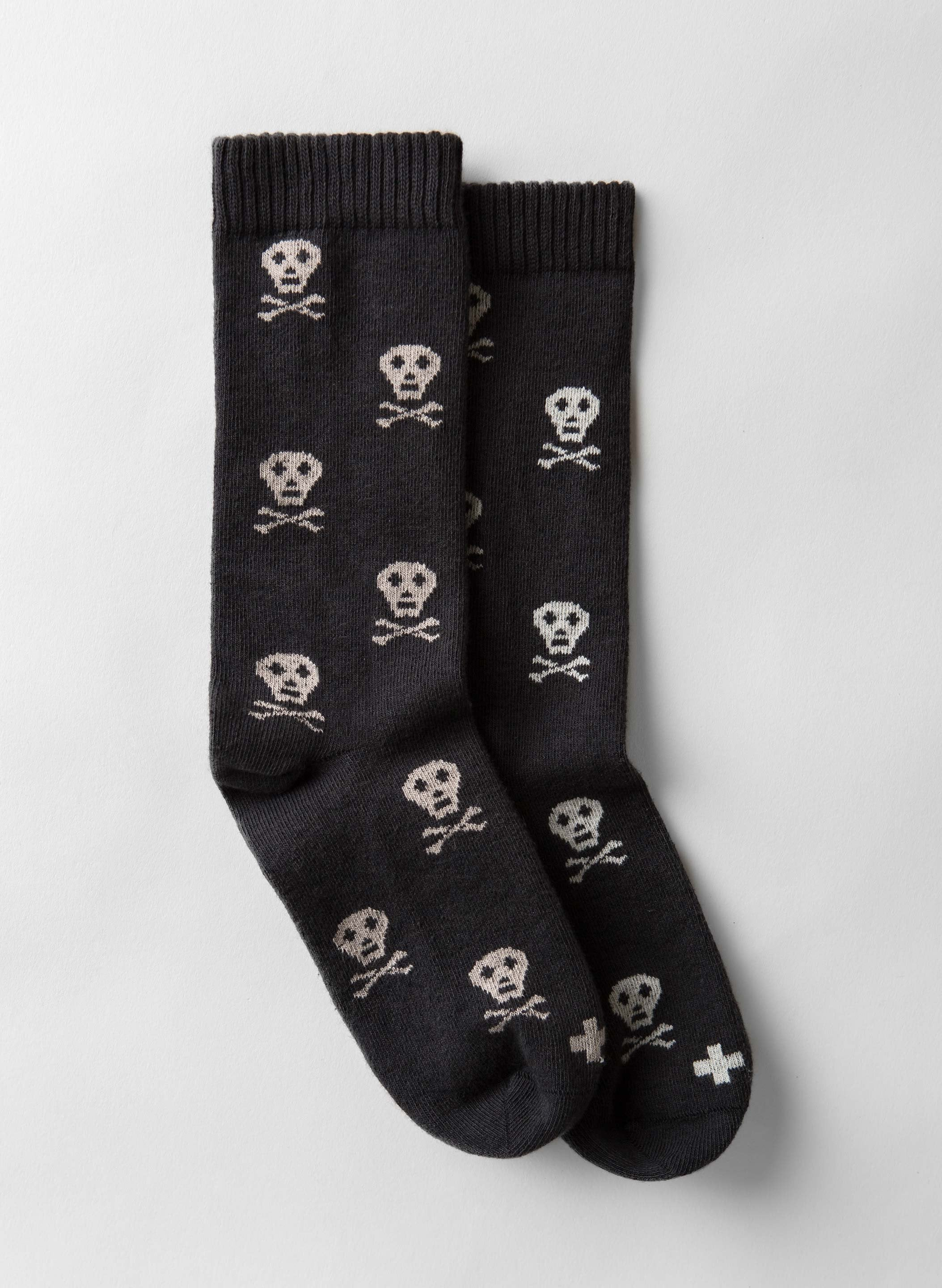 imogene + willie - skull sock in charcoal