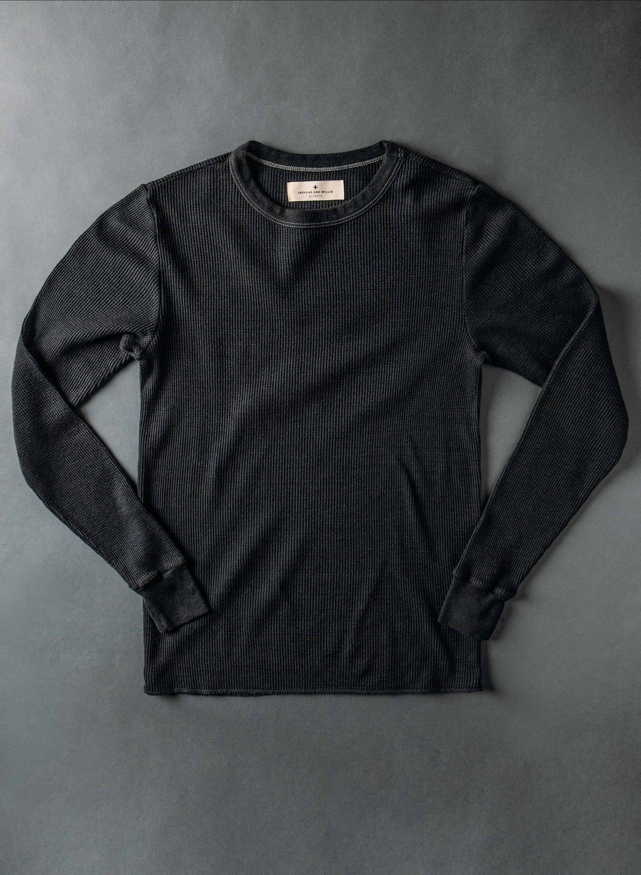 imogene + willie - thermal crew in black