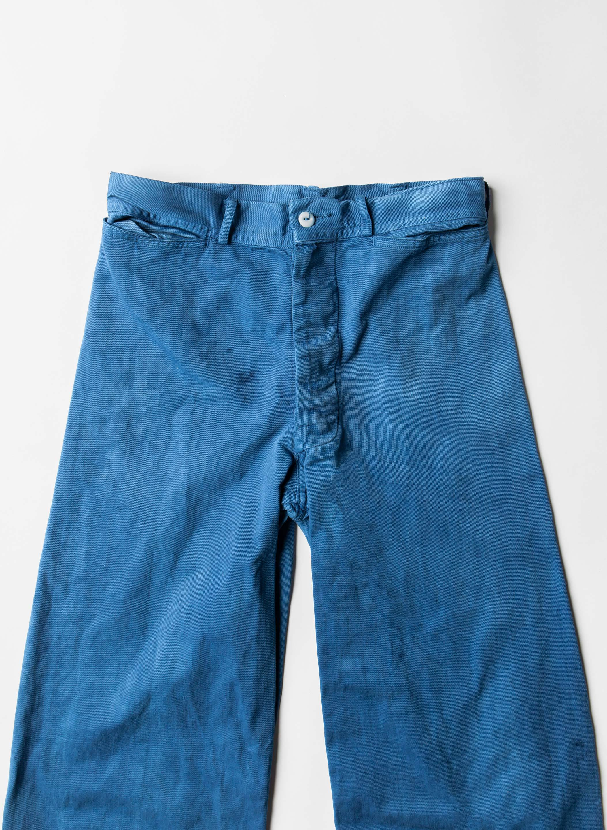 imogene + willie - indigo dyed sailor pants