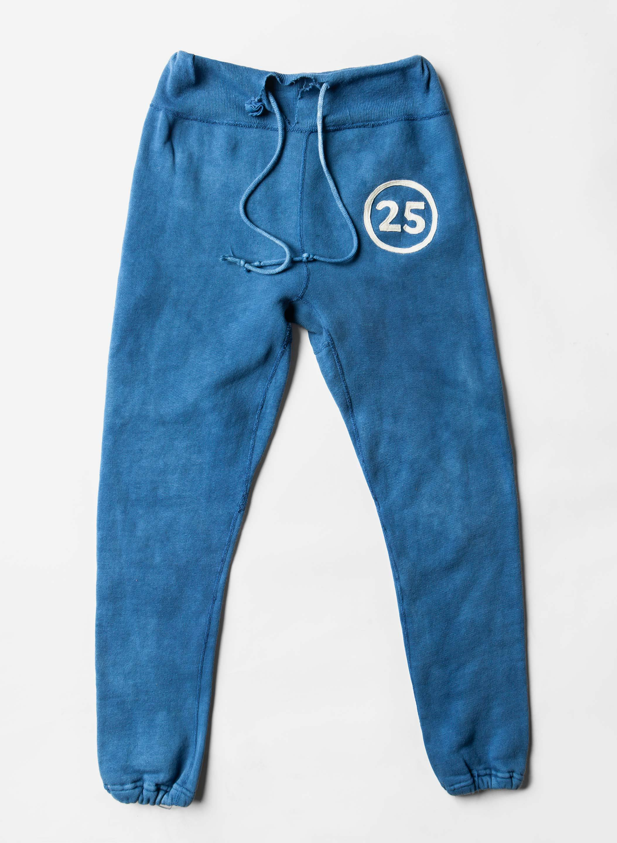 "imogene + willie - indigo stitched ""25"" sweatpants"