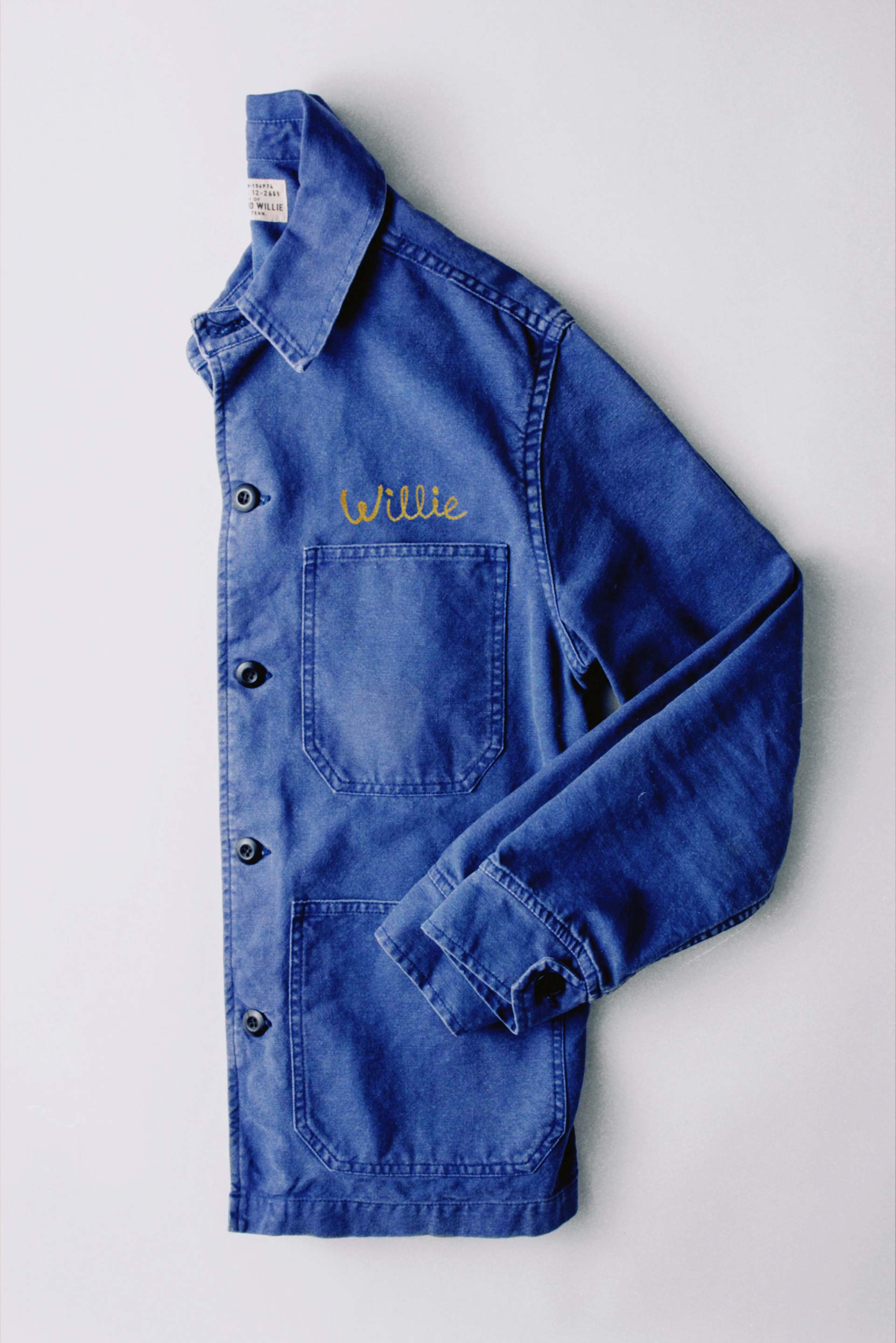imogene + willie - chainstitch jack jacket french blue