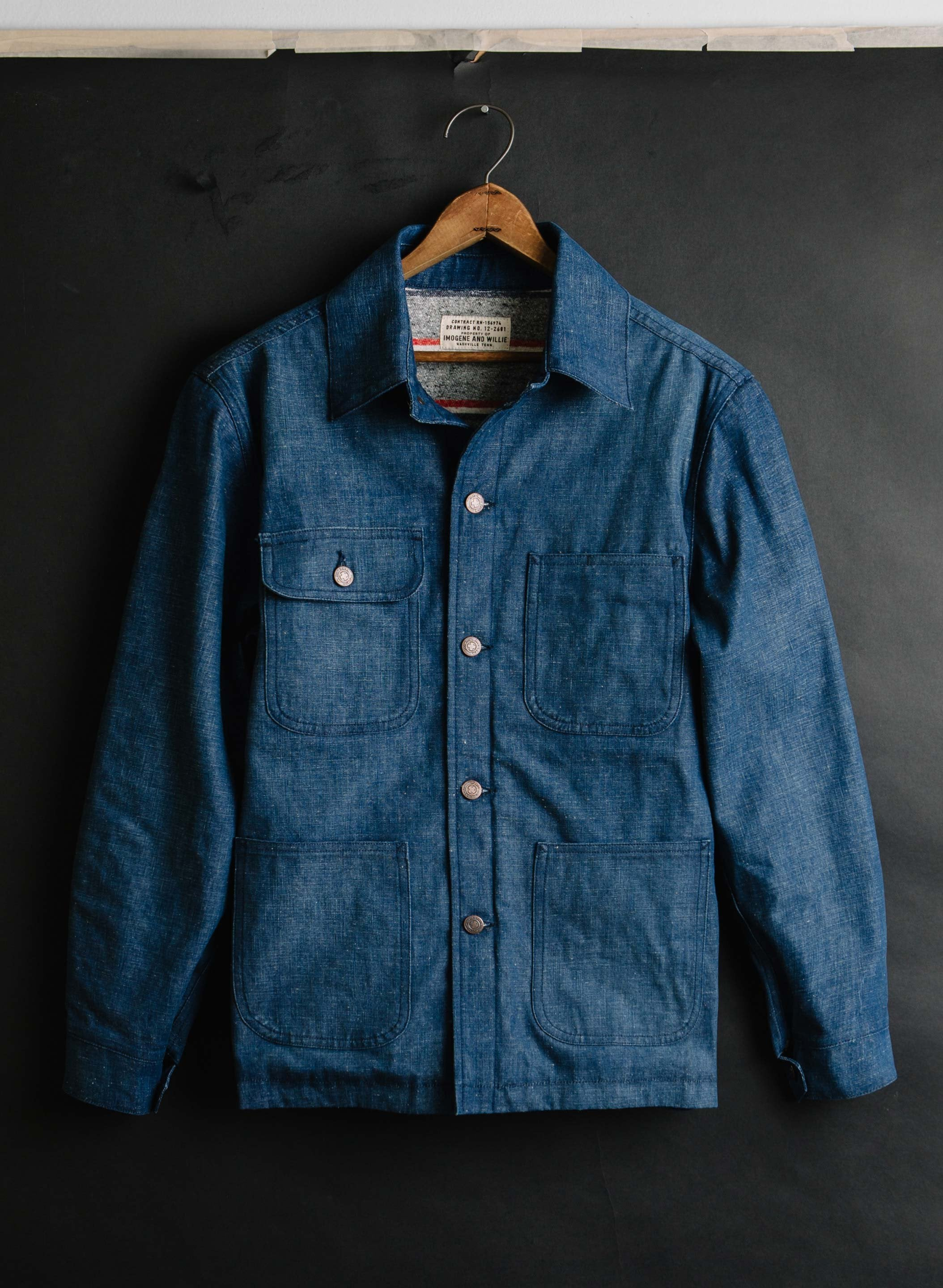 imogene + willie - jack sanded indigo selvage jacket