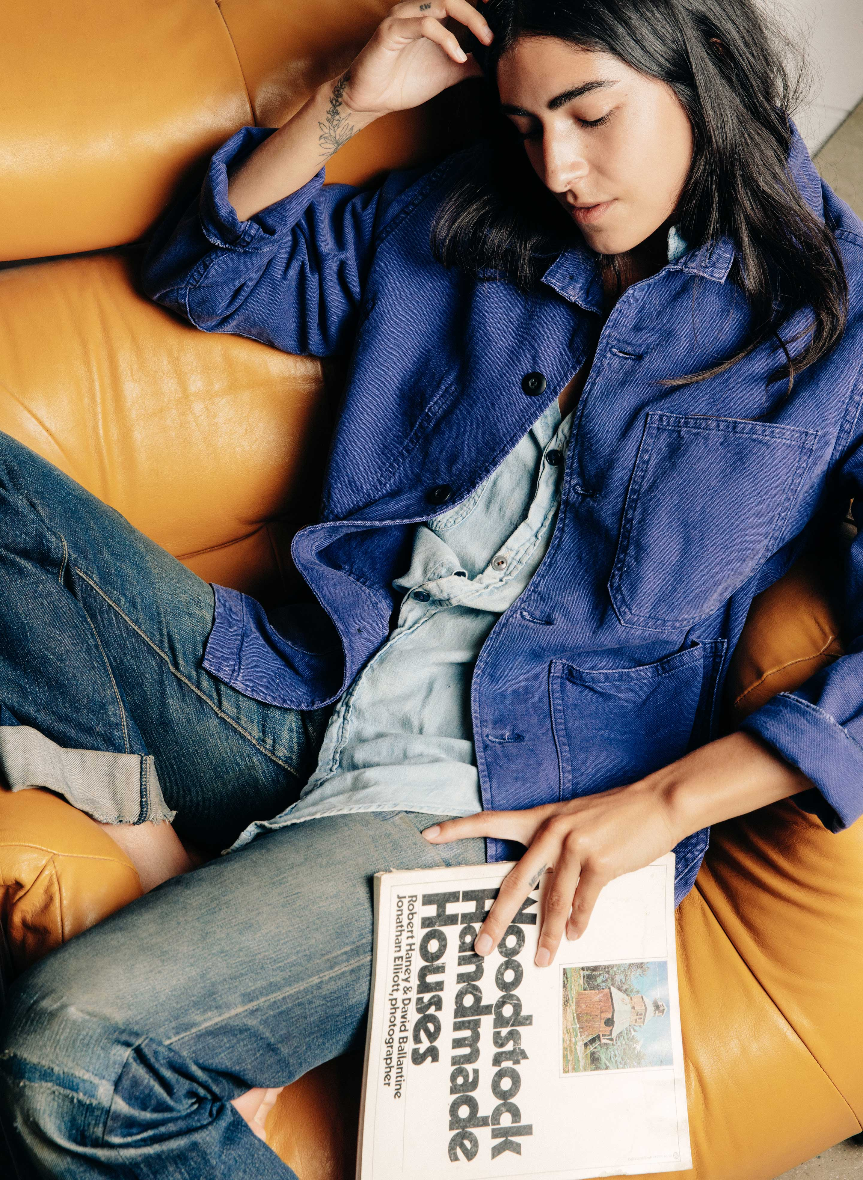 imogene + willie - jack jacket french blue