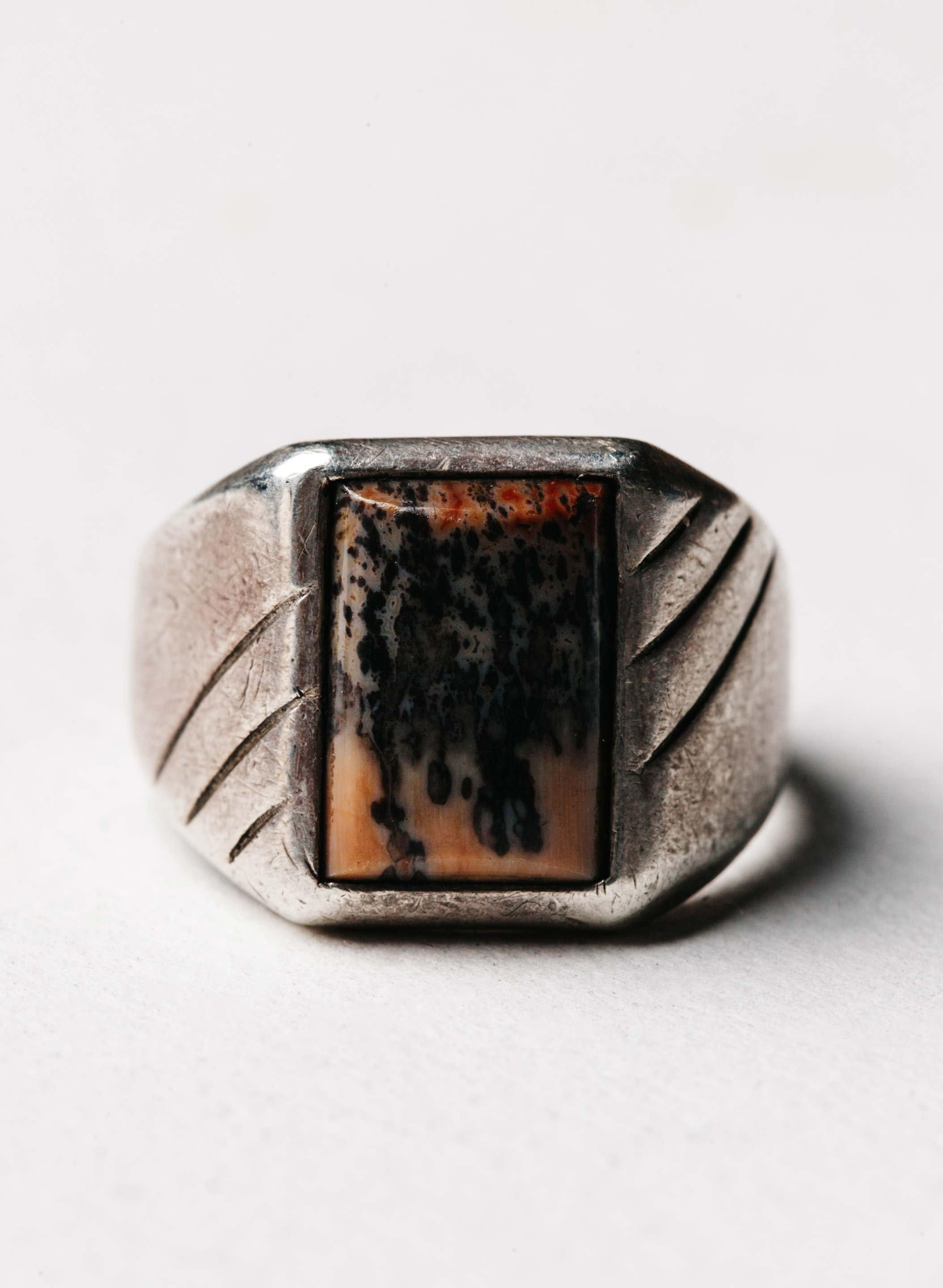 "imogene + willie - vintage ""cadiz"" landscape ring"